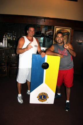 Todd Pliuksis and Jesse Martinez were the winners of the annual Dundee Township Lions Bean Bag tournament on Aug. 23.