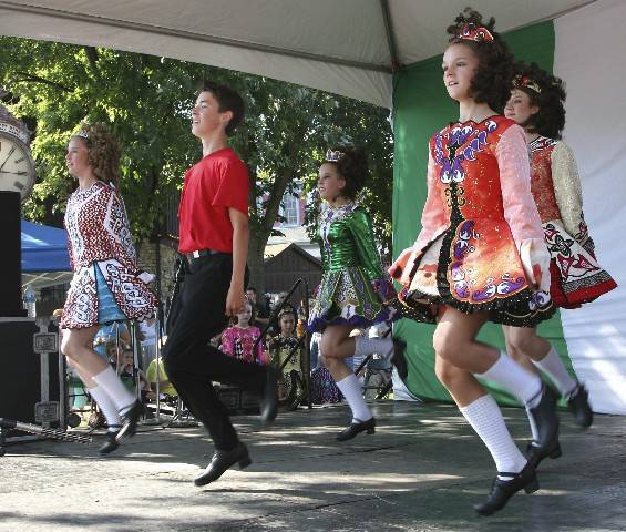 Irish dancers perform at Long Grove Irish Days.