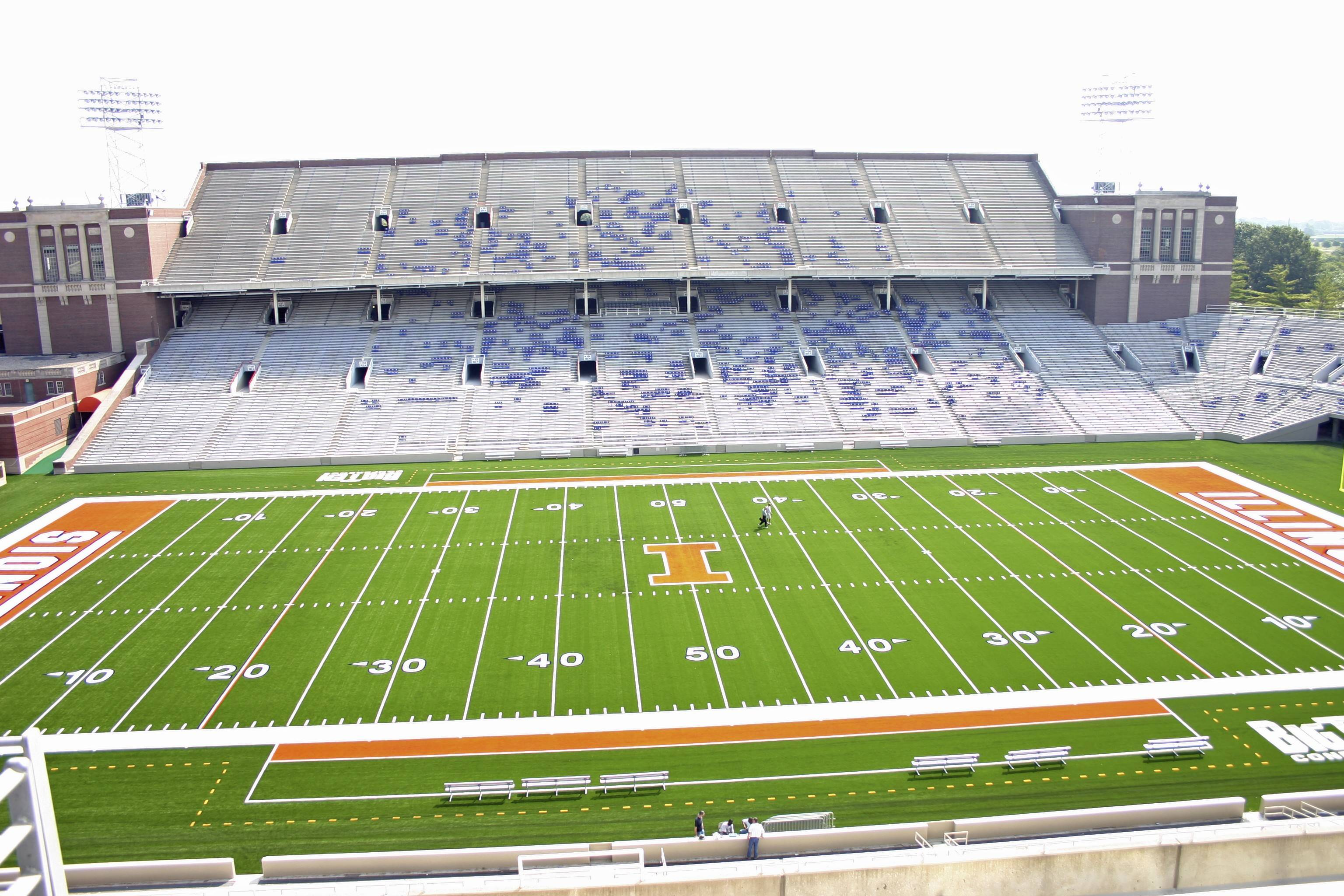 The University of Illinois also is looking into its options, including price points, for adding wireless access at the stadiums in Champaign.