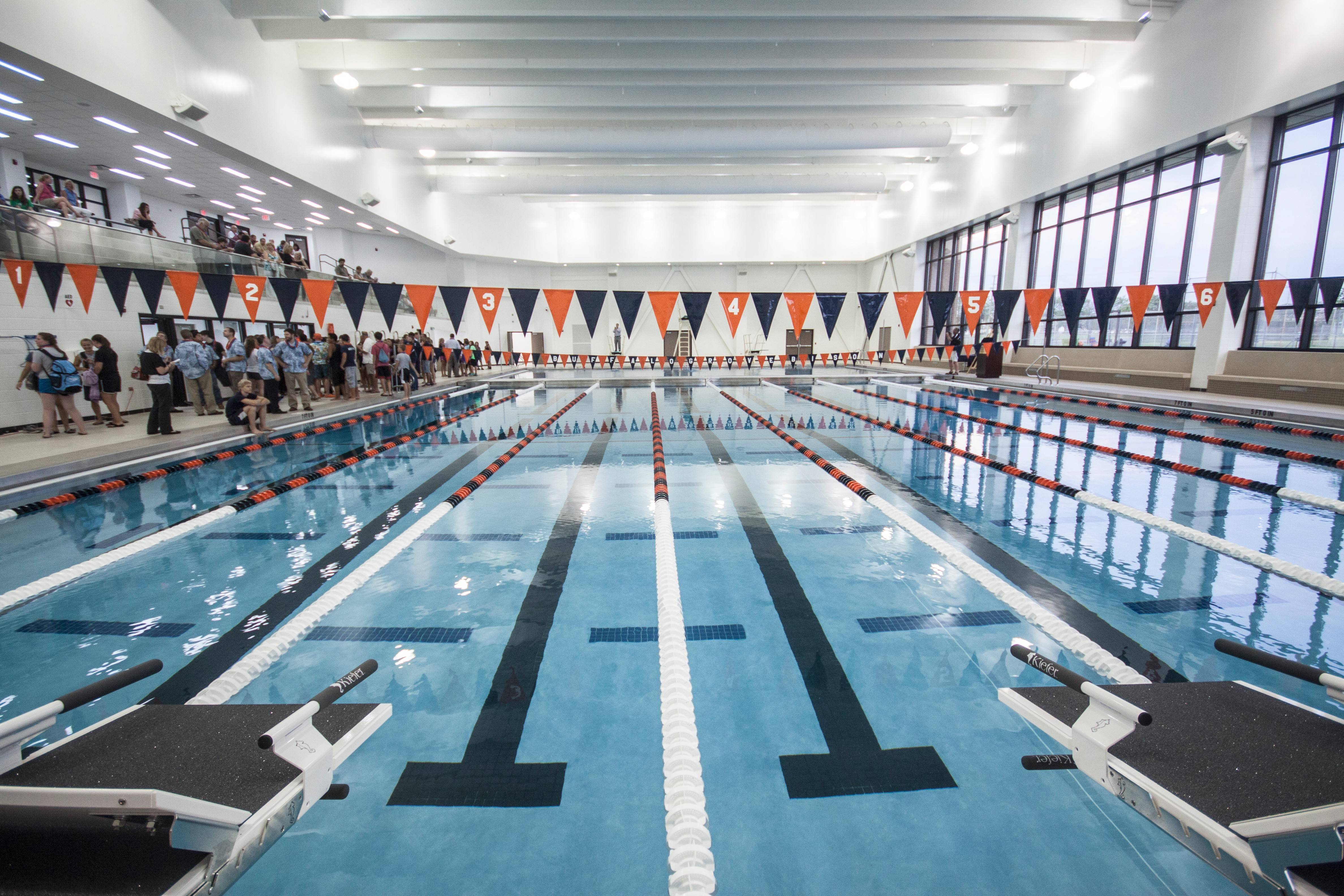 Buffalo Grove High School's new natatorium, shown here, would provide a blueprint for one at Prospect High School.