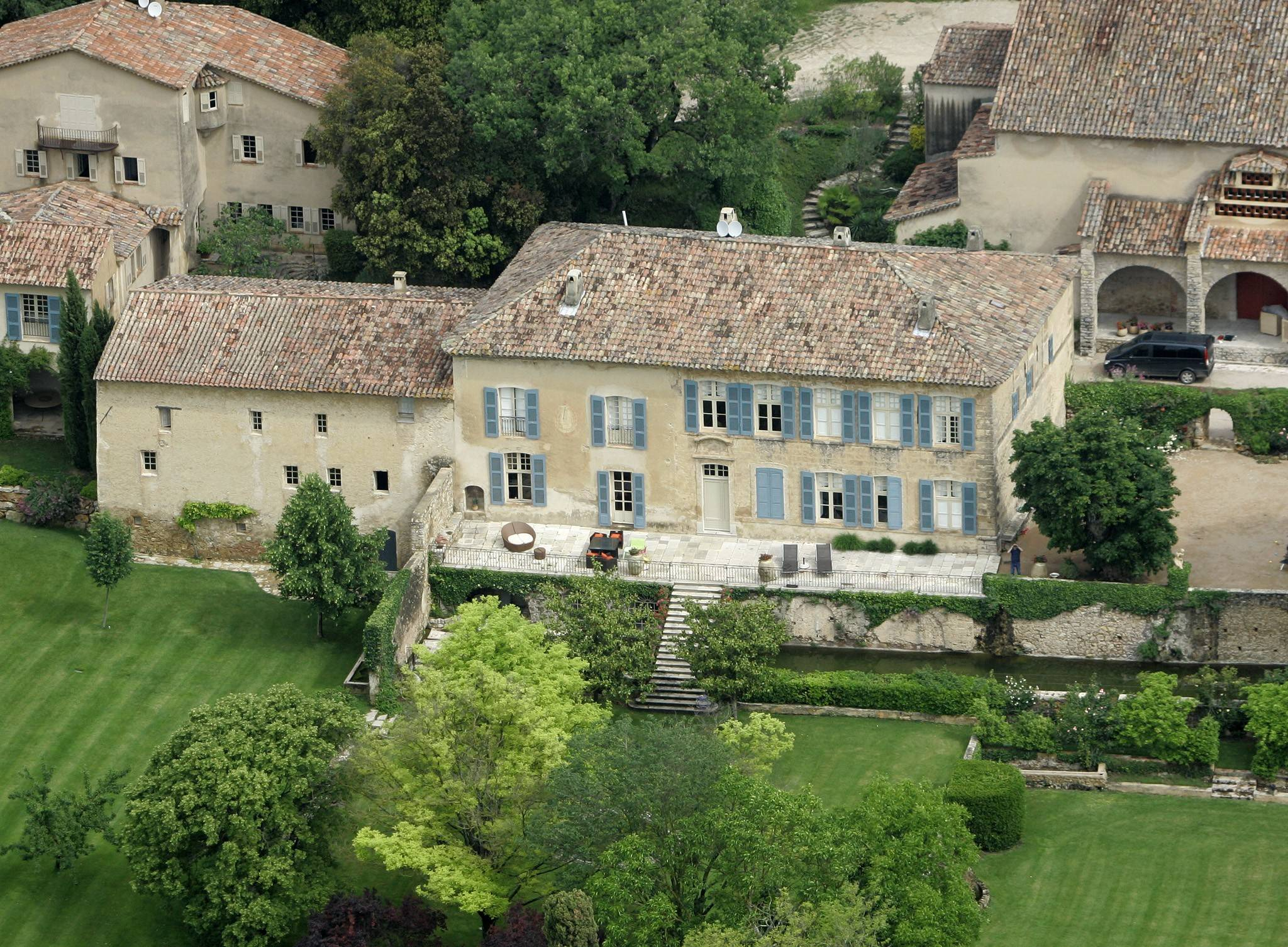 The Miraval property in Correns, France, which is owned by actors Angelina Jolie and Brad Pitt. Jolie and Pitt were married Saturday Aug. 23, 2014 in Chateau Miraval, France, says a spokesman for the couple.
