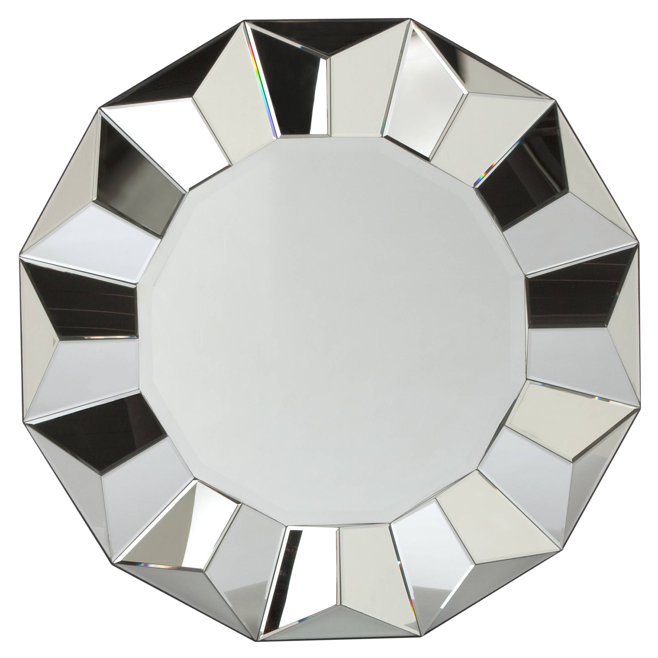 A faceted Portico mirror would make a dramatic statement over a mantel or in an entryway.