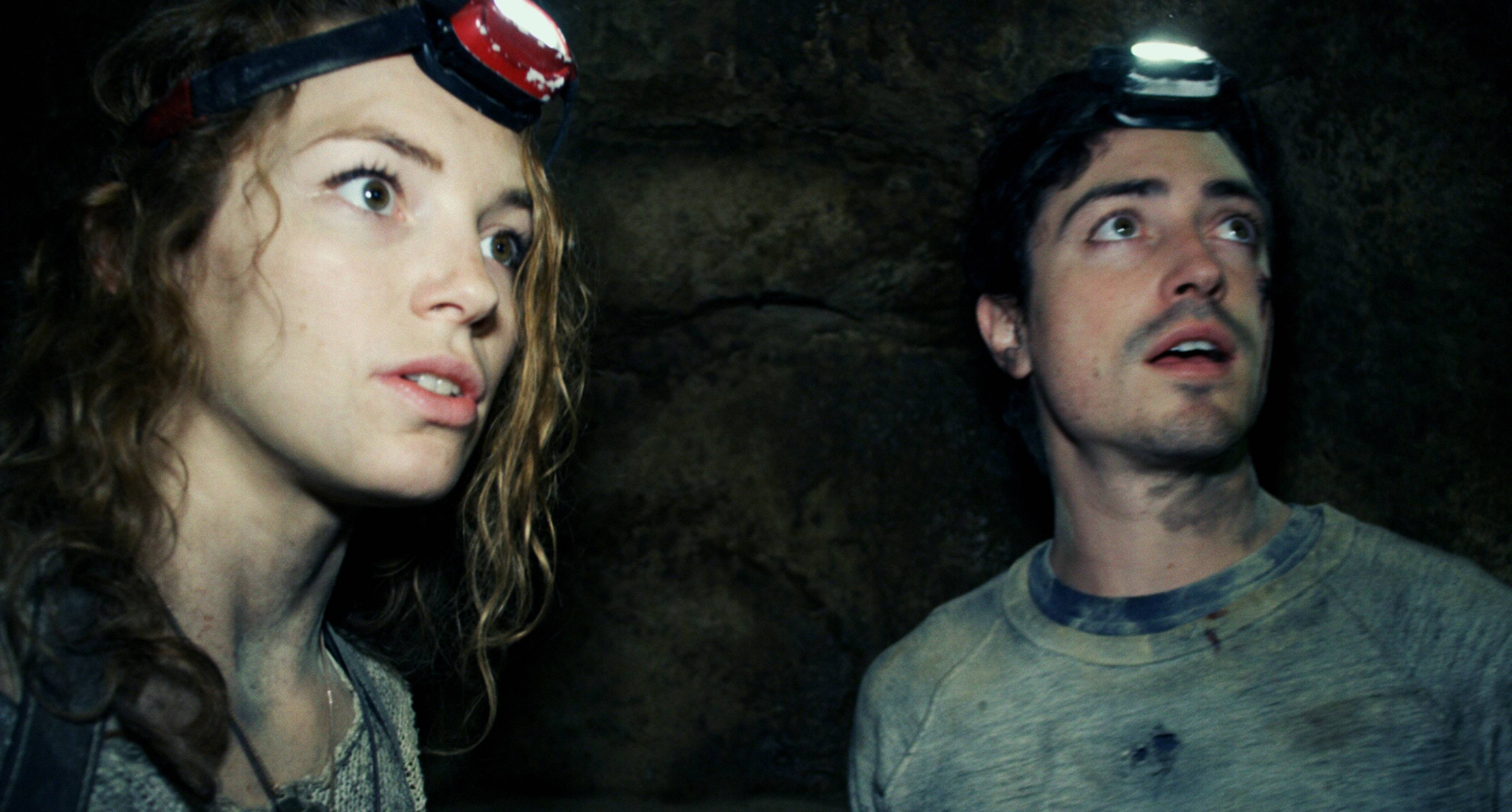 "Perdita Weeks and Ben Feldman discover the gates of hell below Paris in the found-footage horror tale ""As Above, So Below."""