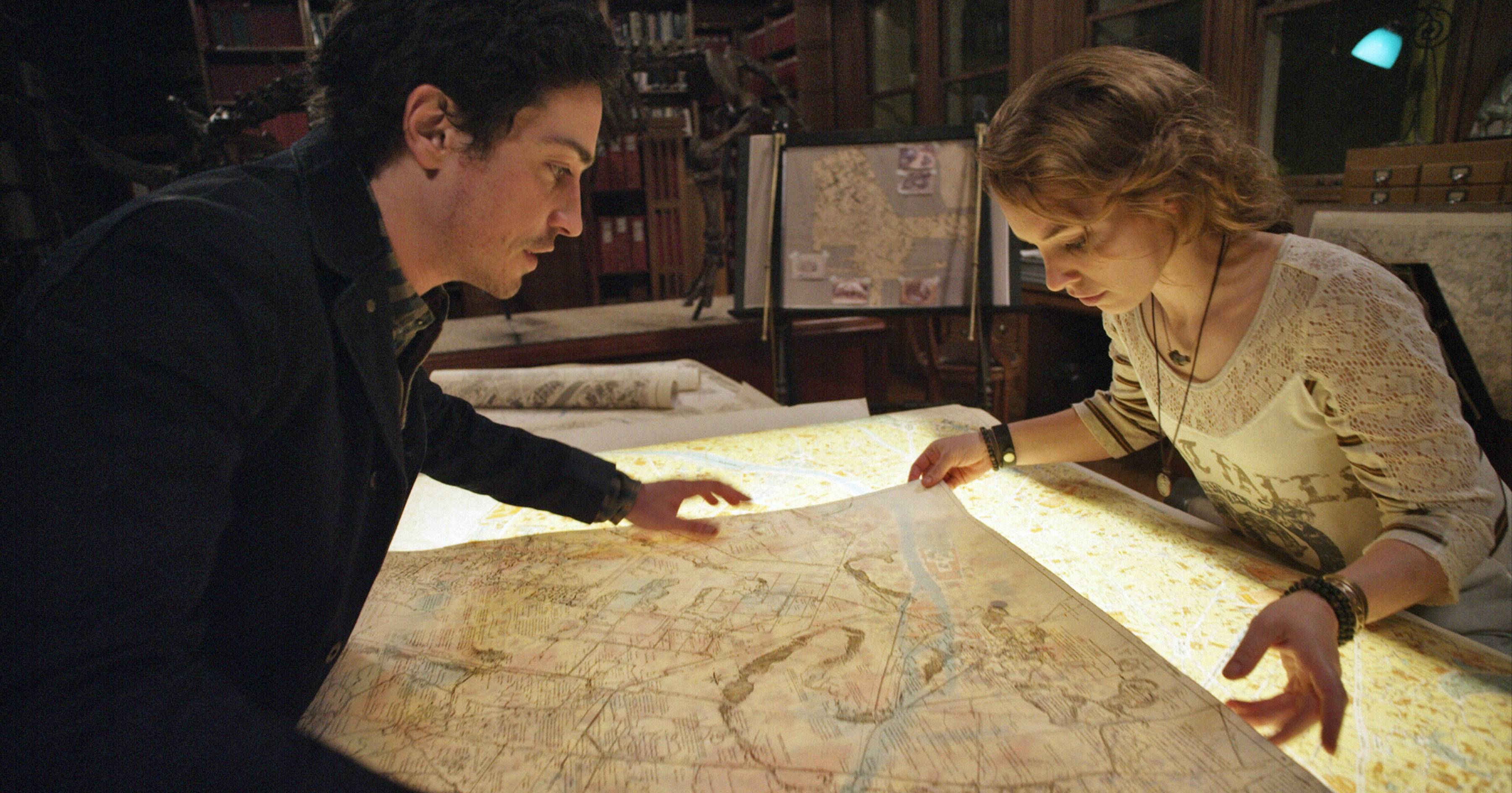 "Ben Feldman and Perdita Weeks find something worth investigating below Paris in the found-footage horror tale ""As Above, So Below."""