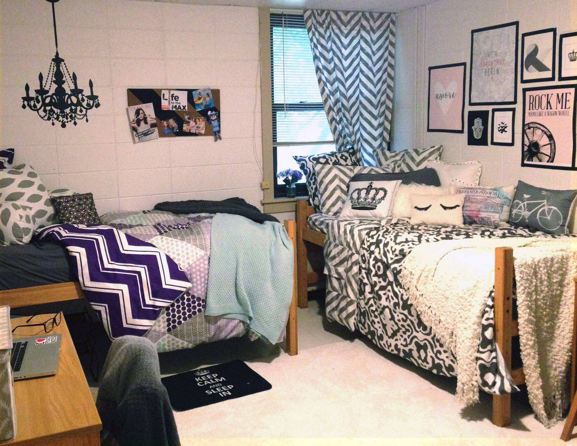 This dormitory room was decorated with help from Dormify.com an online design business & Designing parents turn dorm rooms into dream spaces