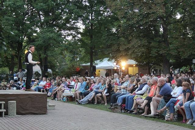 Wheaton Park District and Wheaton College's Arena Theater are presenting Shakespeare in the Park for a second year this Friday and Saturday in Memorial Park.