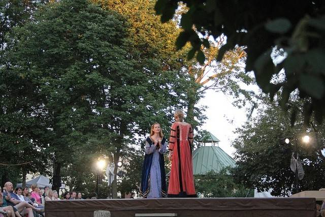 The Wheaton Park District and Wheaton College's Arena Theater will present William Shakespeare's Love's Labour's Lost this Friday and Saturday at 7 p.m. in Memorial Park.