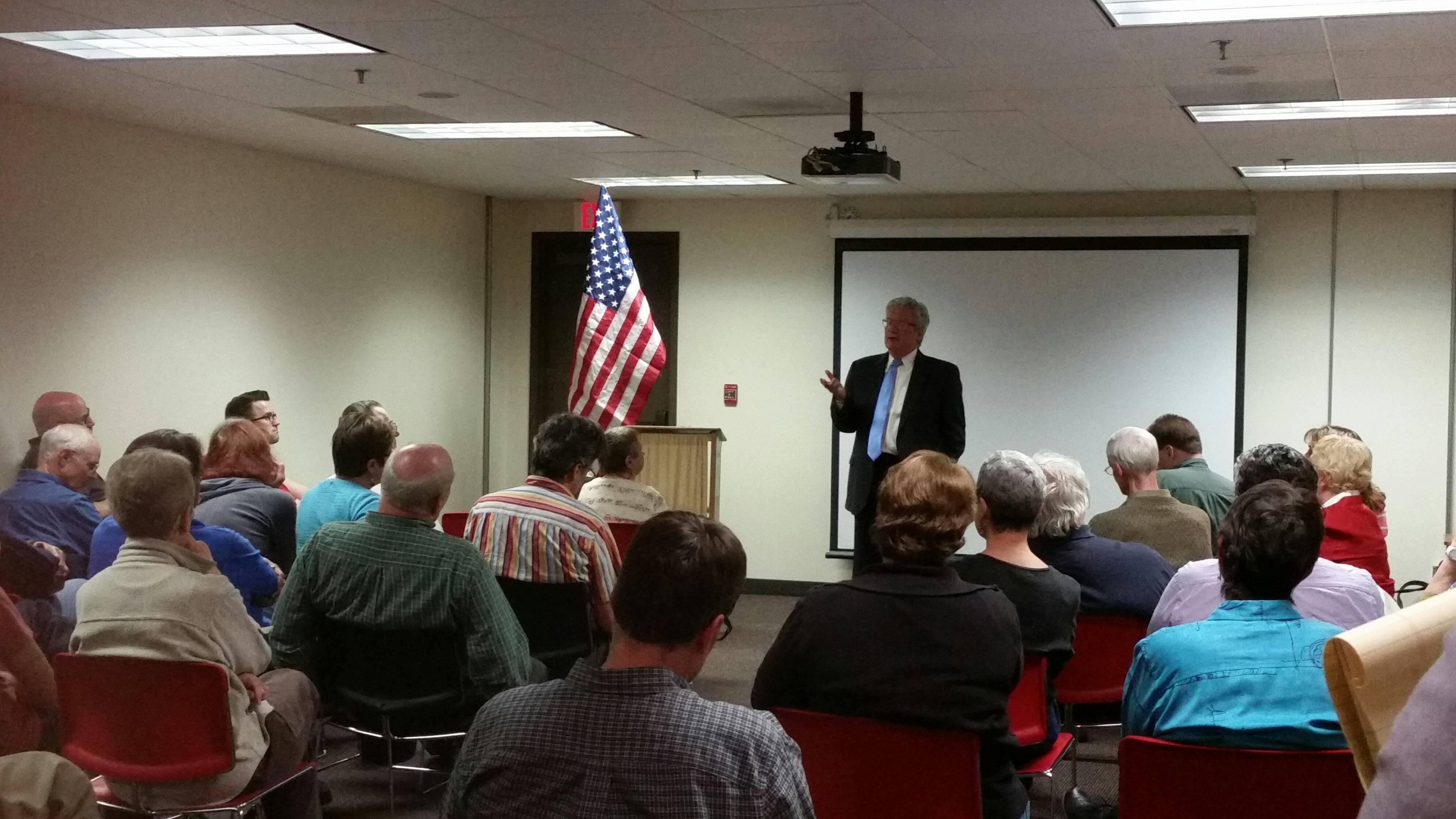 Anderson's district-wide town hall tour will continue throughout the campaign season.