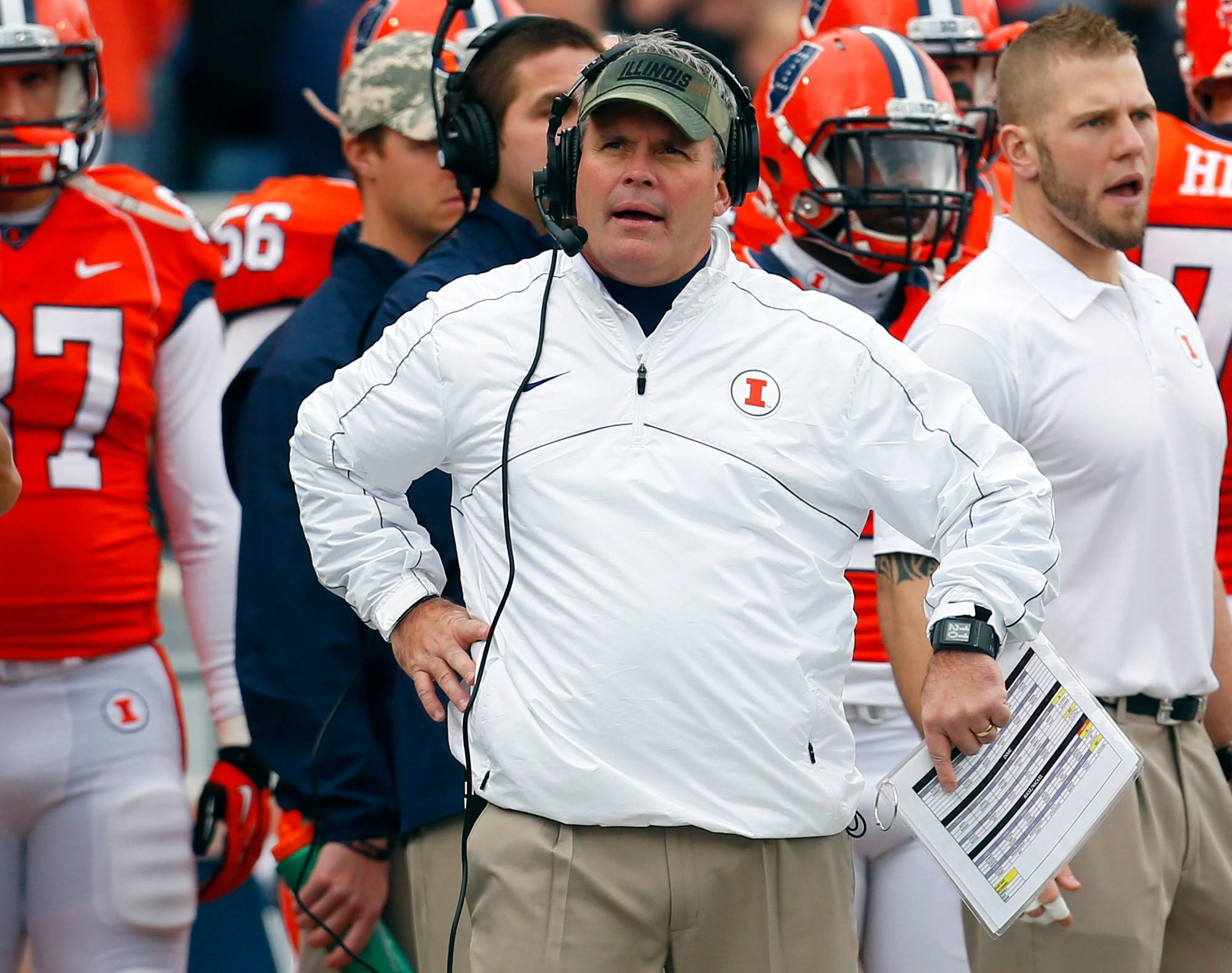 Illinois head coach Tim Beckman is back for a third season in Champaign and is looking for improvement after a 4-8 record last season.