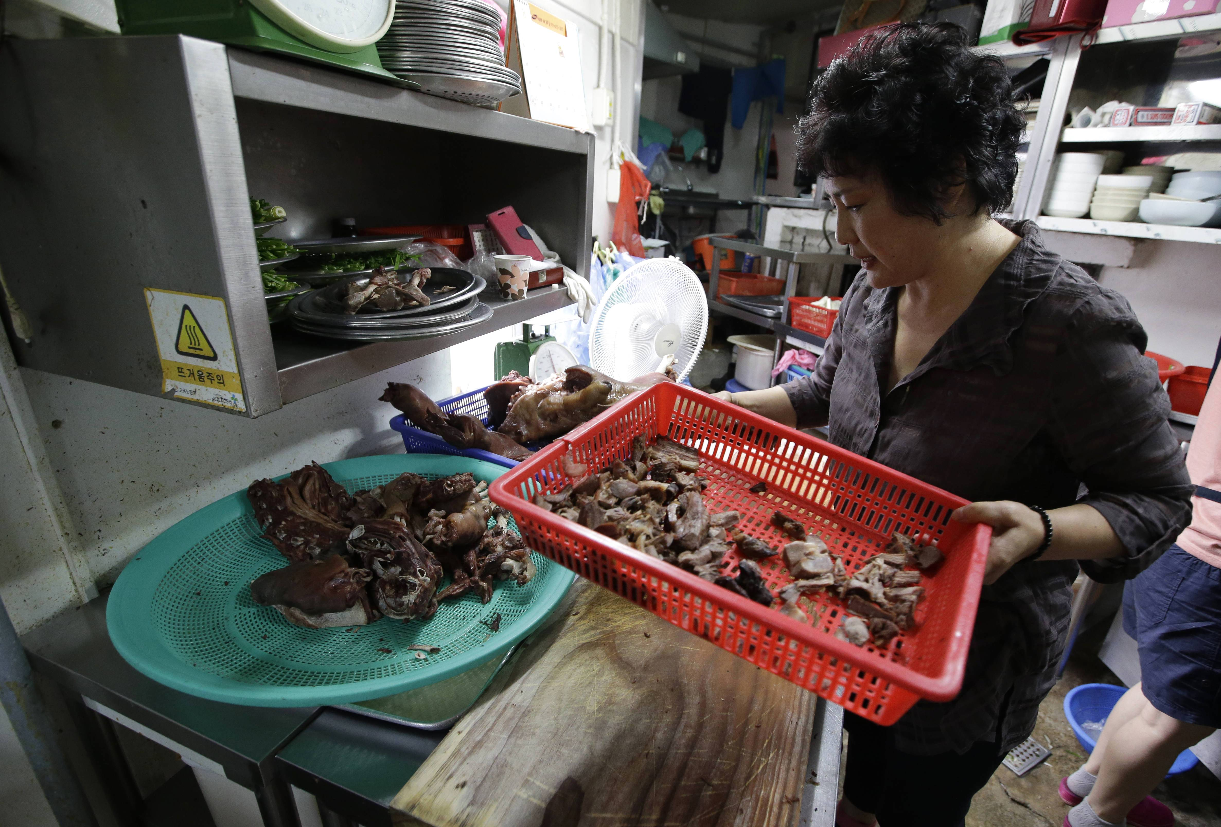 When she was in her twenties, chef Oh Keum-il traveled around South Korea to learn dog meat recipes from each region.