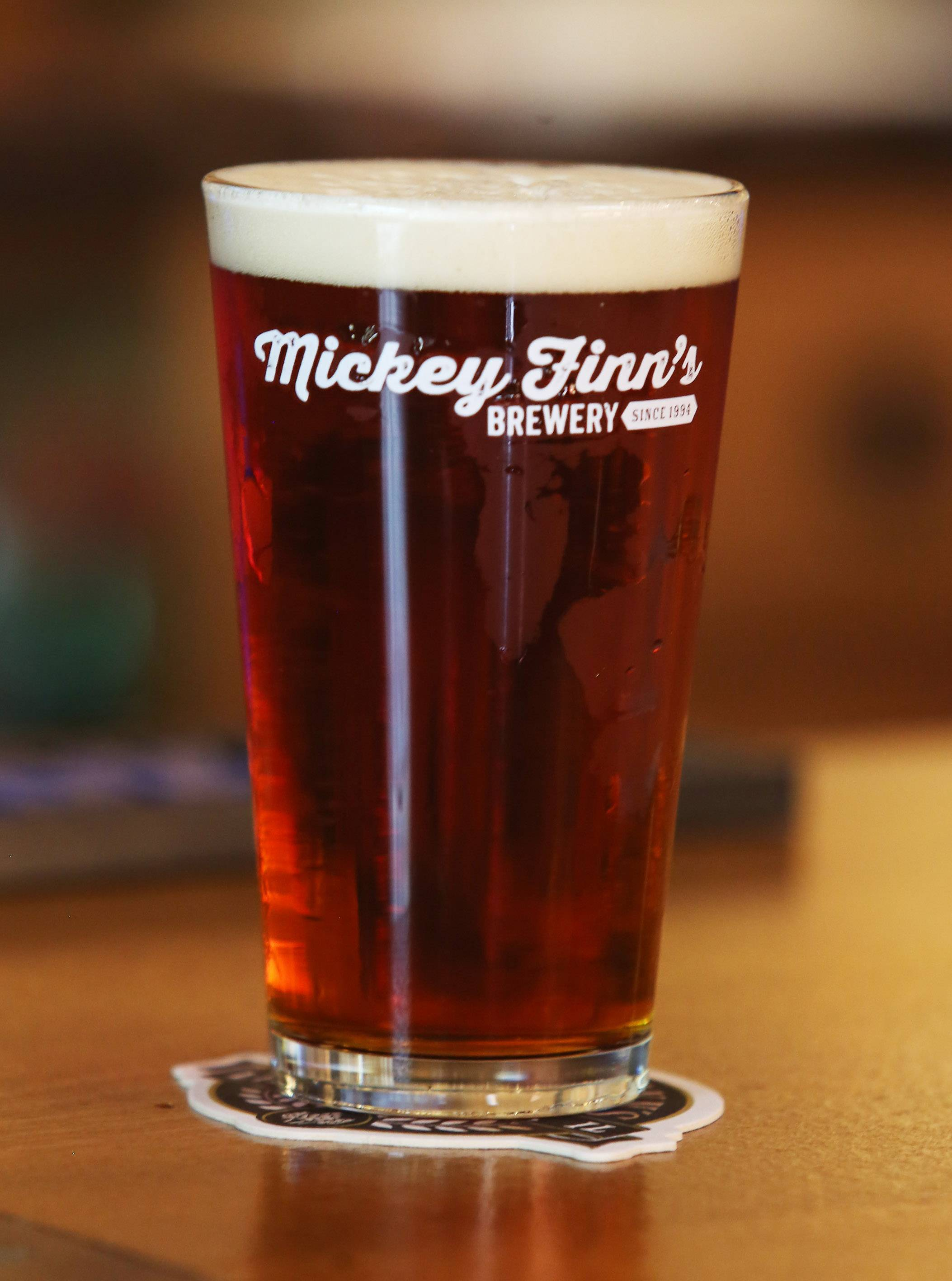 Gilbert R. Boucher II/gboucher@dailyherald.comMickey Finn's brews its Amber Ale beer on-site.