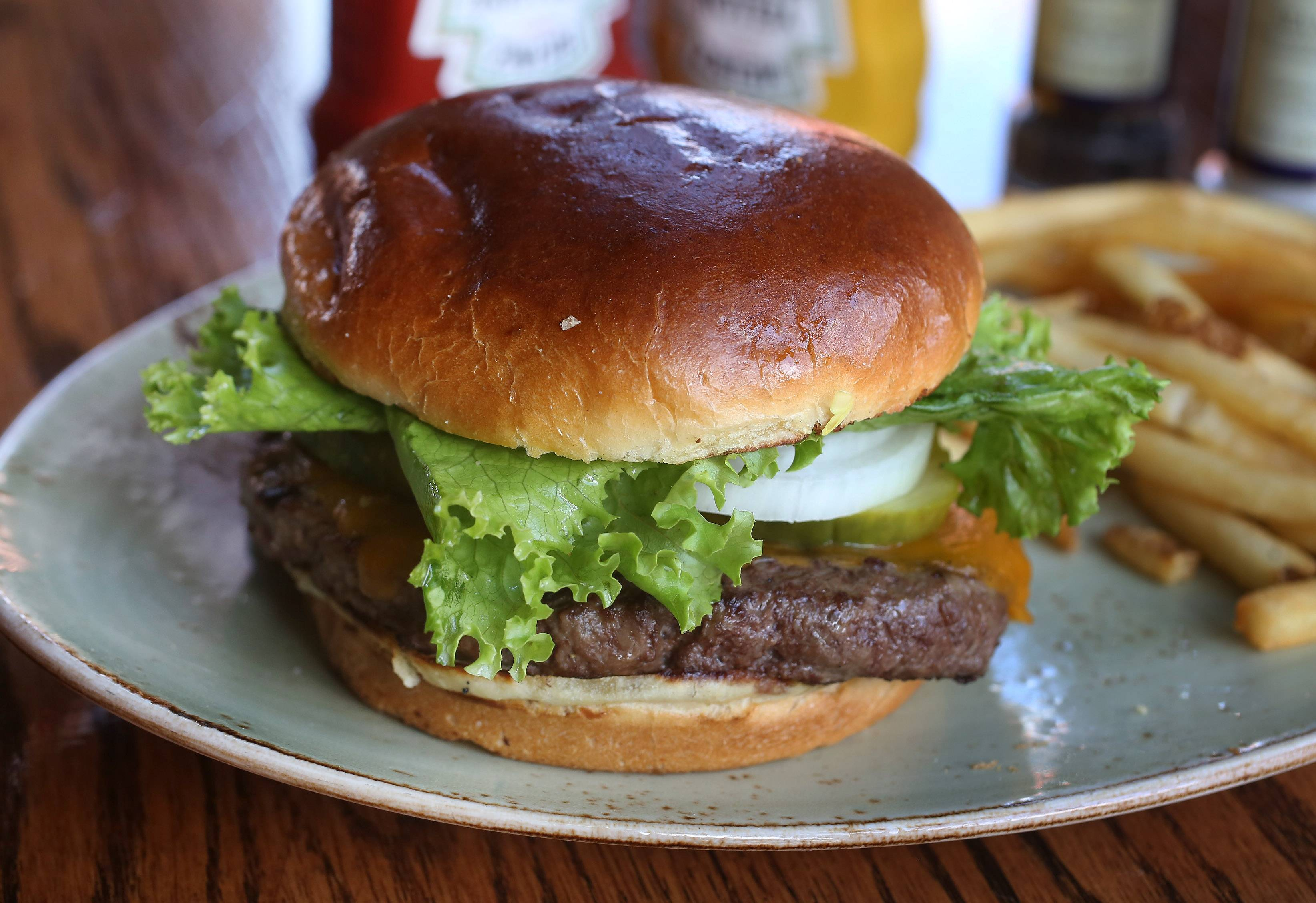 The Original Mickey Burger is just one of many burger options at Mickey Finn's in Libertyville.
