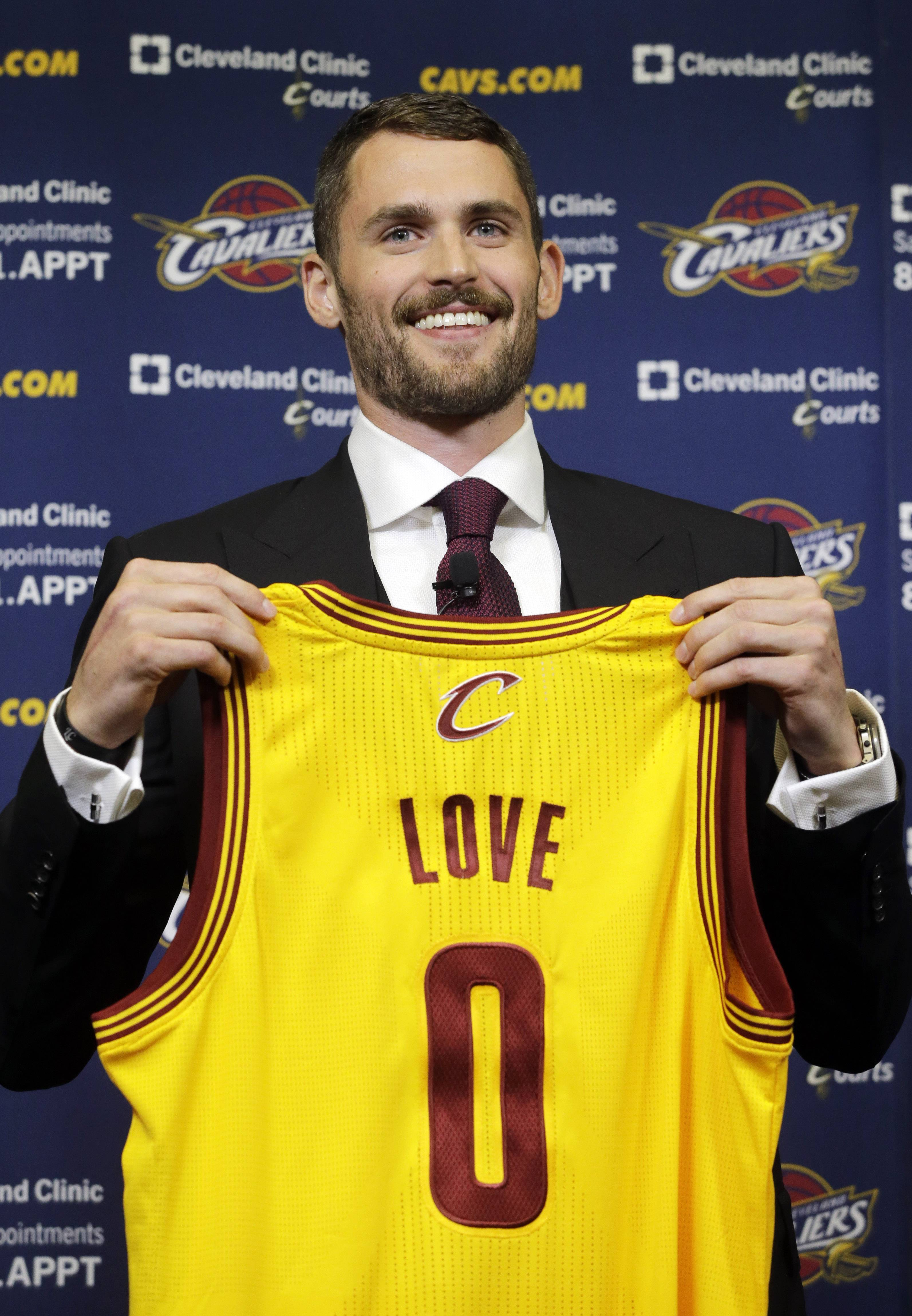 Kevin Love, now a member of the Cleveland Cavaliers, has never taken a team to the NBA playoffs.