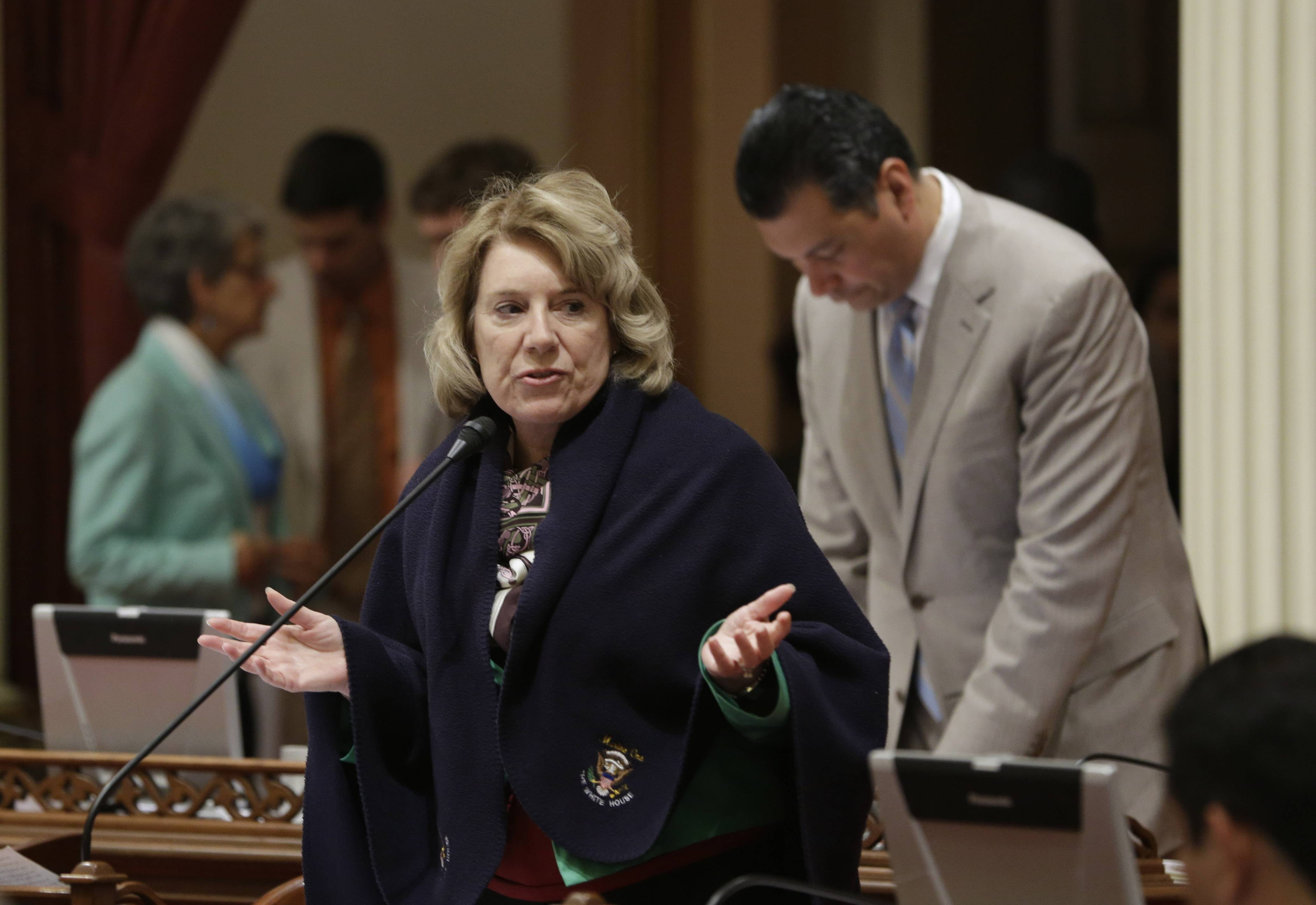 State Sen. Jean Fuller, R-Bakersfield, urged lawmakers to reject legislation Friday that would make California the first state to ban single-use plastic bags.