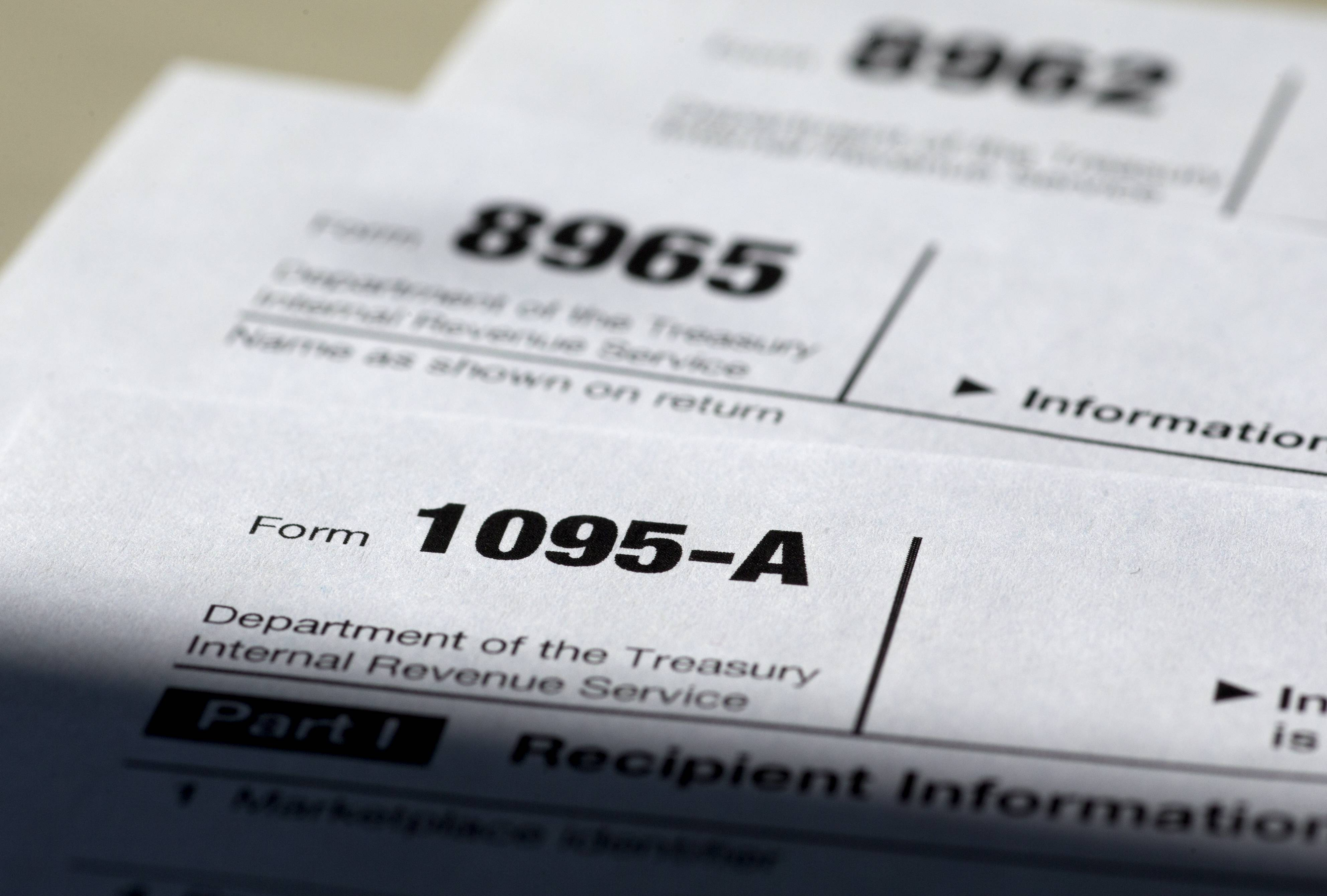 Health care tax forms 1095-A, and 8965, and 8962.