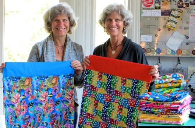 Twins Laura Seyfarth of Mill Valley, California, and Karen Butz of Naperville are sewing roughly 60 pillowcases a month for pediatric patients at Edward Hospital in Naperville.