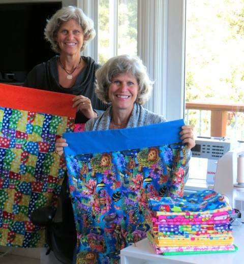 Karen Butz of Naperville and her twin sister Laura Seyfarth of Mill Valley, California, have started a project they call KaLaCares to sew pillowcases for pediatric patients at Edward Hospital in Naperville. The sisters are making roughly 60 pillowcases a month.