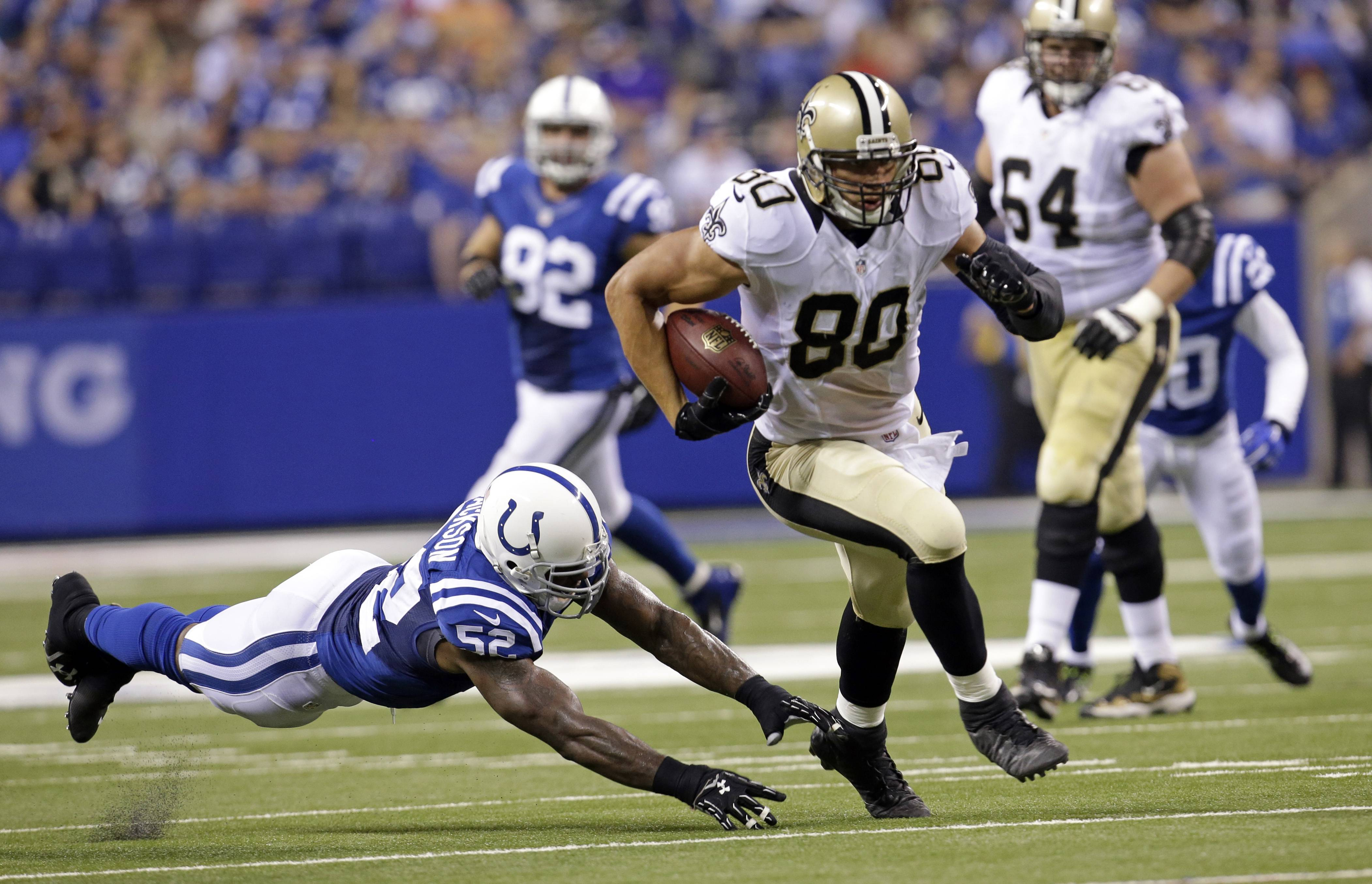 There are fewer sure-fire bets in fantasy football than Saints tight end Jimmy Graham (80) producing big numbers by season's end, according to John Dietz.