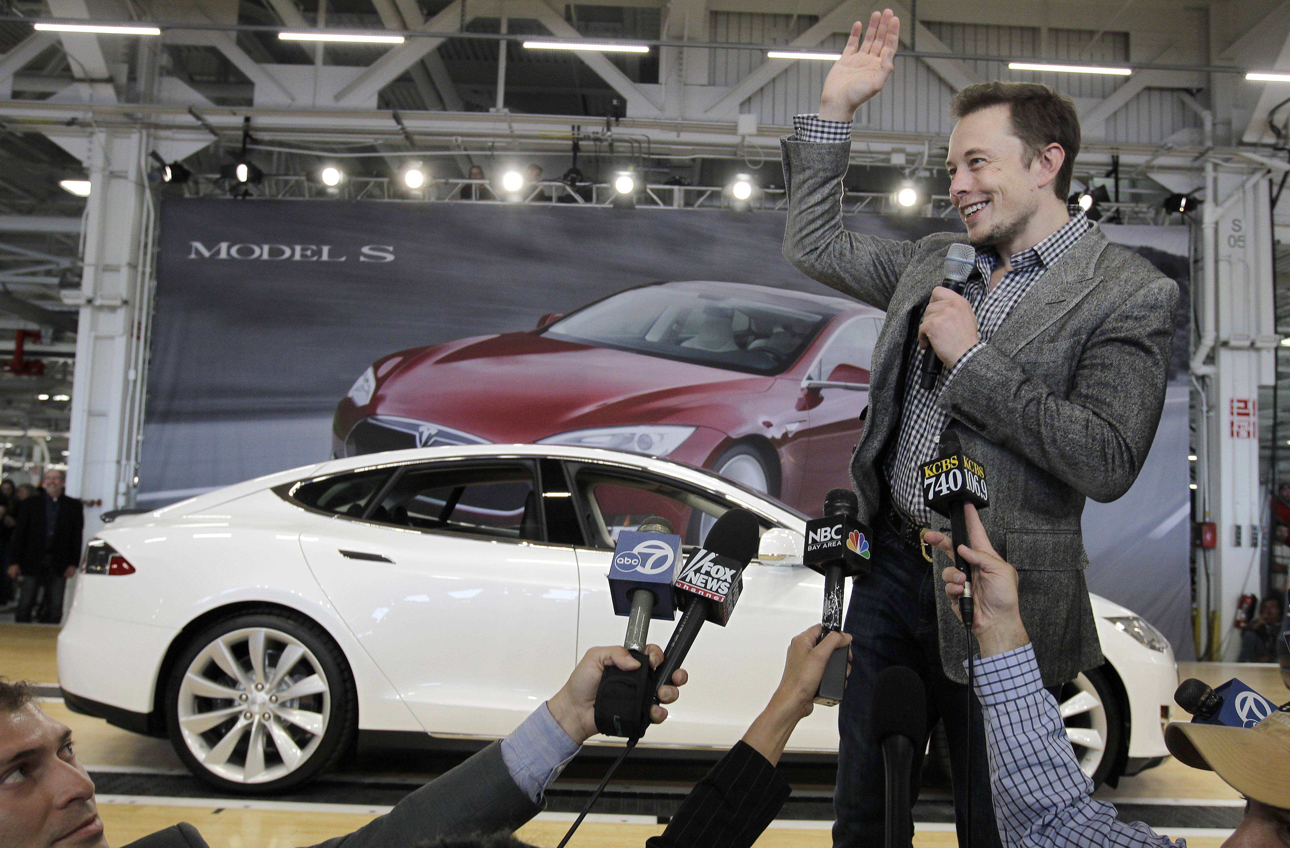 Tesla CEO Elon Musk, seen here in 2012, has five states bidding up subsidy packages to land a coveted plant for a $5 billion factory to make batteries for a new generation of Tesla electric cars.