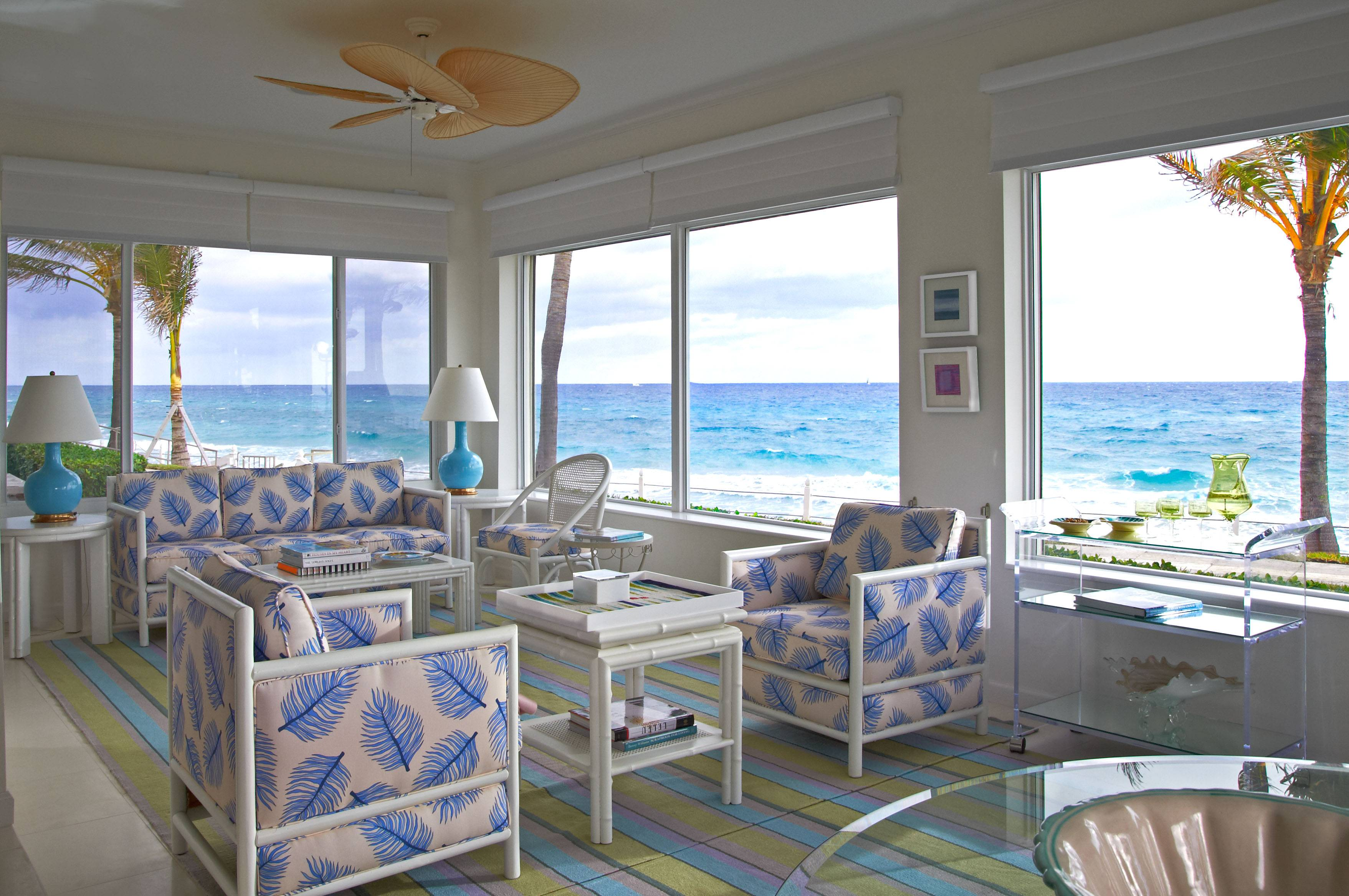 This room in a Palm Beach, Florida, home was decorated by interior designer Jan Showers.