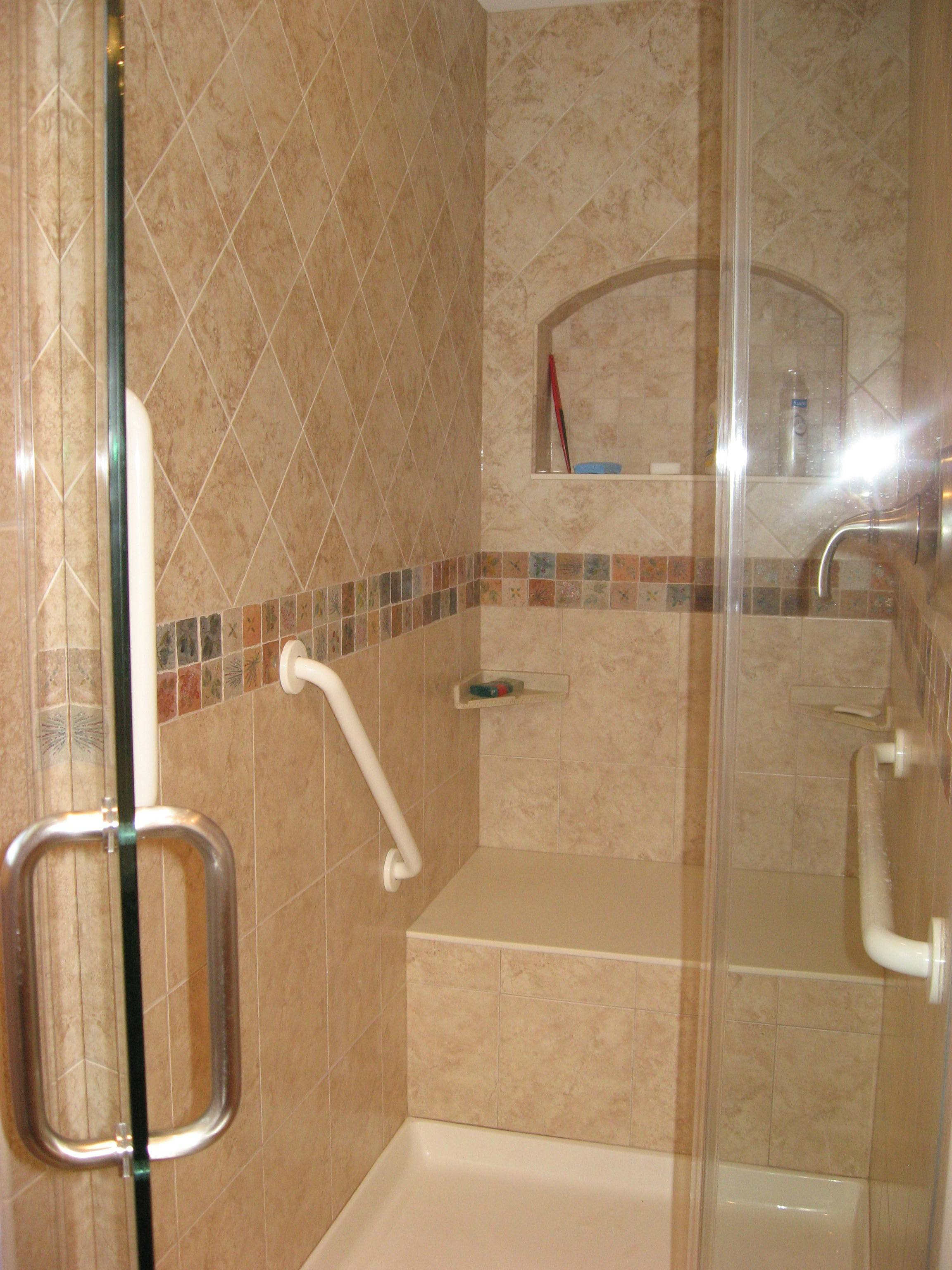 Putting grab bars inside and next to the tub or shower and next to the toilet can help prevent falls.