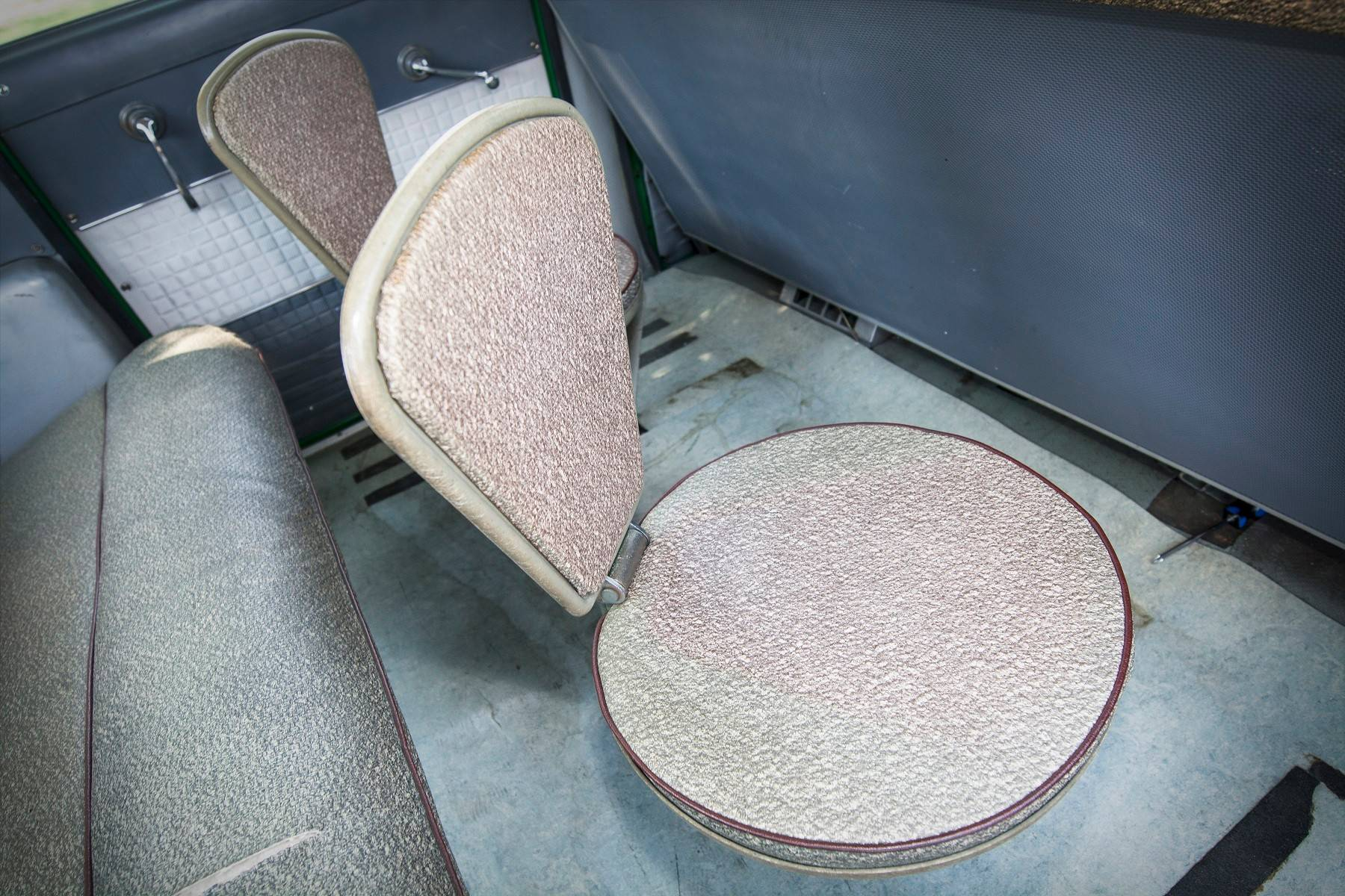"Rear flip-up ""jump seats"" were designed to accommodate additional passengers."