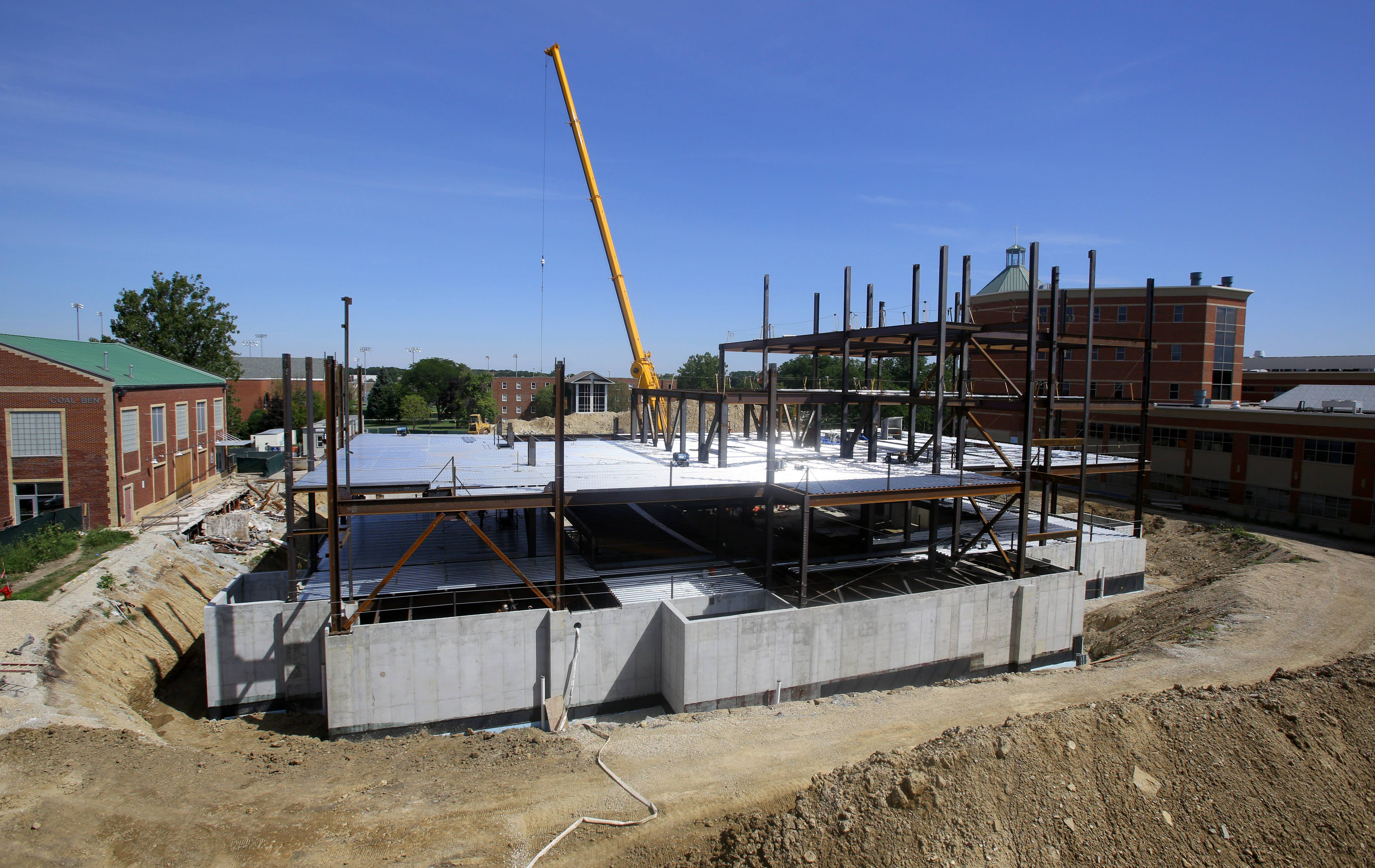 Construction on Benedictine University's new College of Business building is scheduled for completion next summer. The Lisle school is hoping the business college helps it attract more students in an increasingly challenging market for suburban colleges and universities.