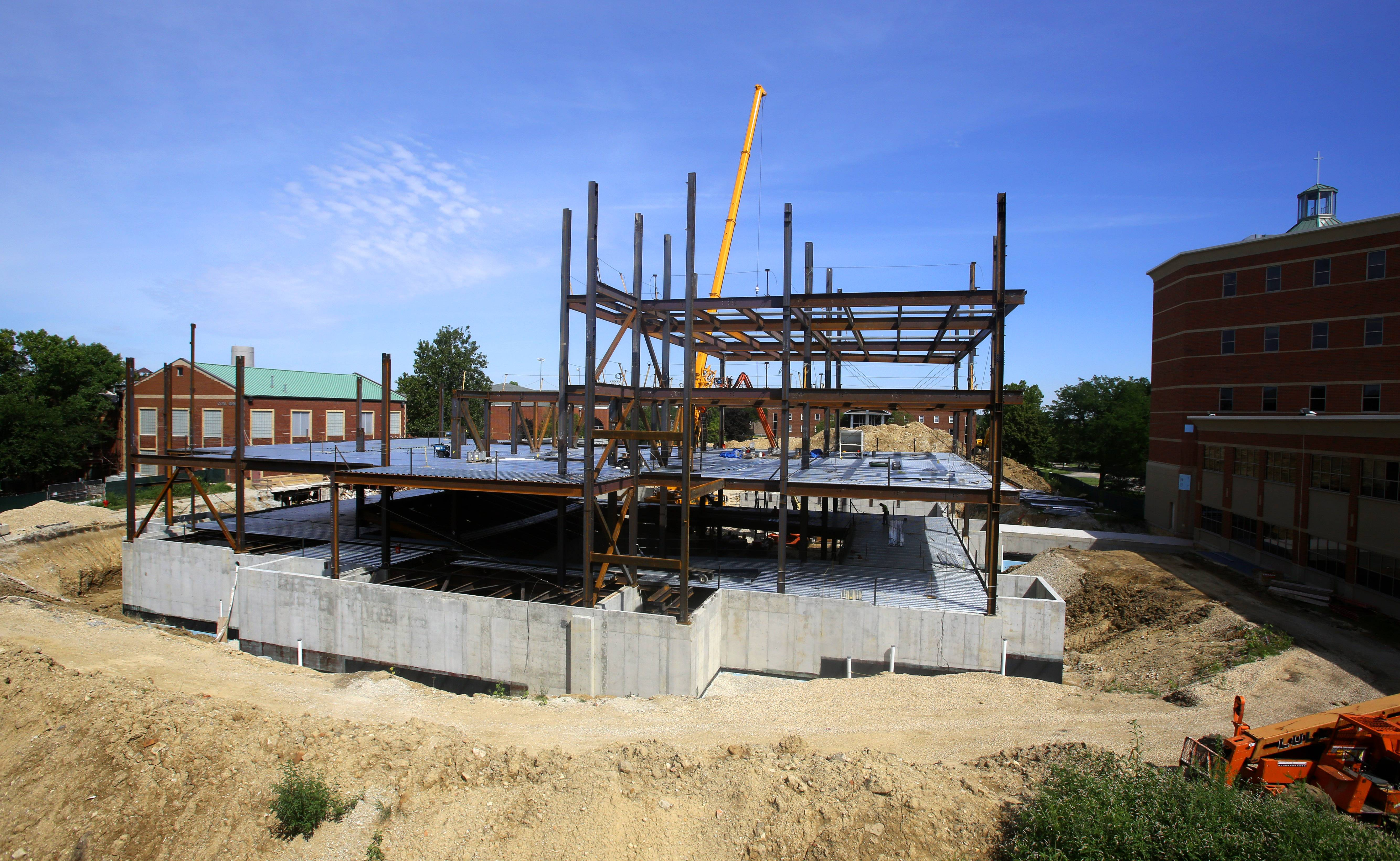 Construction on Benedictine University's new College of Business building is scheduled for completion next summer.