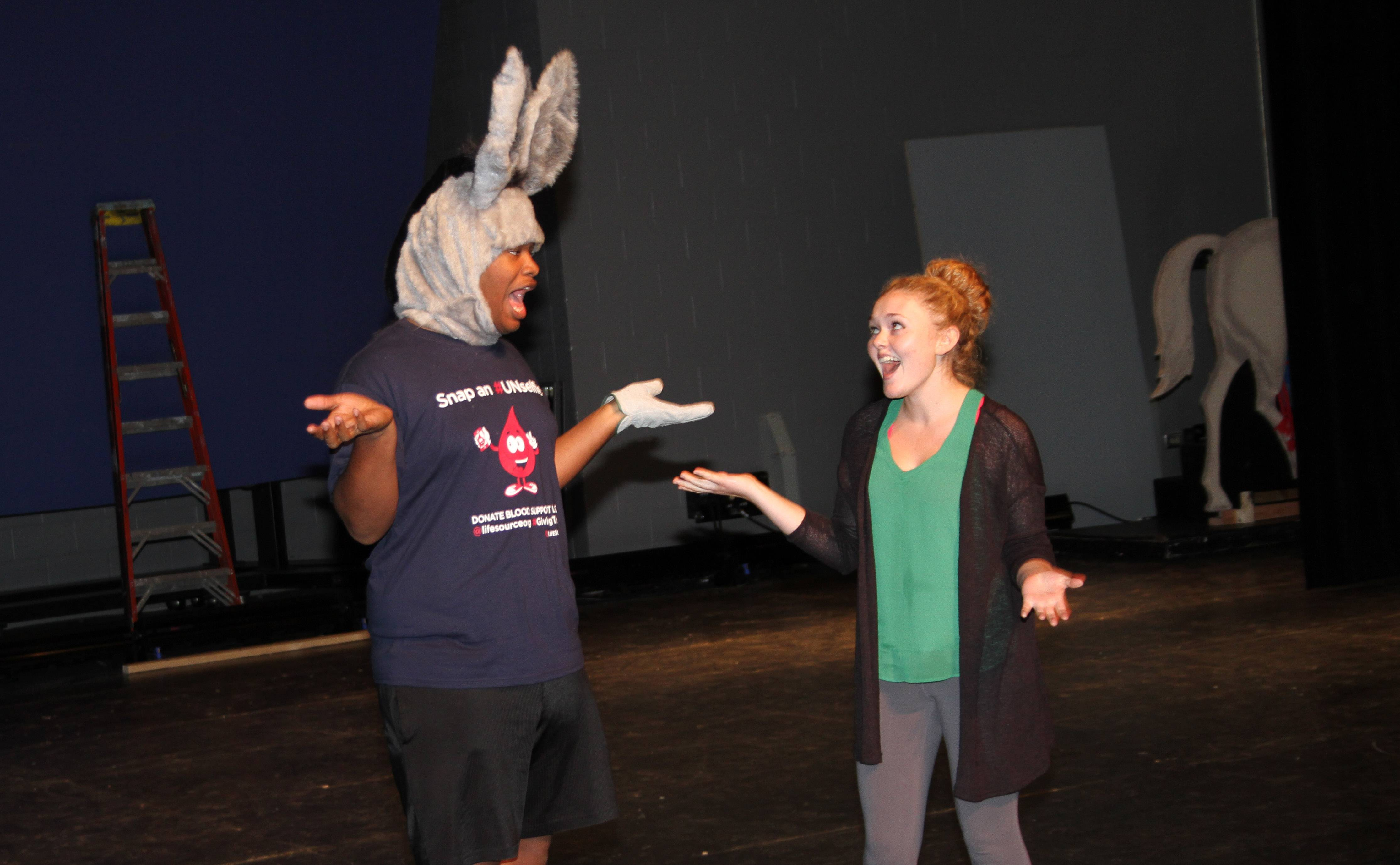 "Korey Hughes and Kaylee Hoffman are part of the cast of the Children's Theatre of Elgin and Fox Valley Theatre Company production of ""Shrek the Musical,"" running weekends Sept. 5-14."