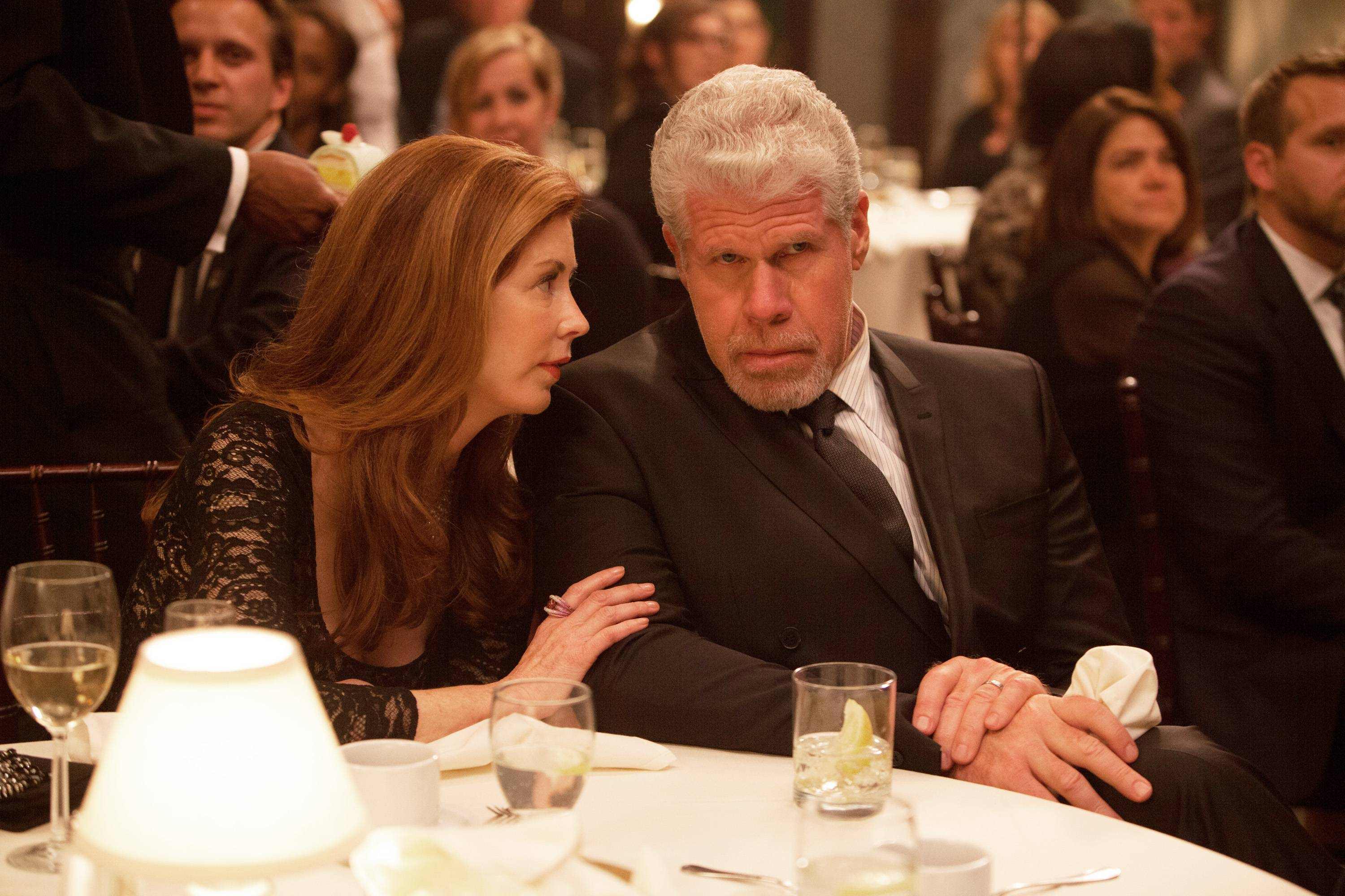 "Dana Delany and Ron Perlman star in ""Hand of God,"" where Perlman plays a judge who believes God is guiding him after his family is attacked. Amazon started streaming it online on Aug. 28."