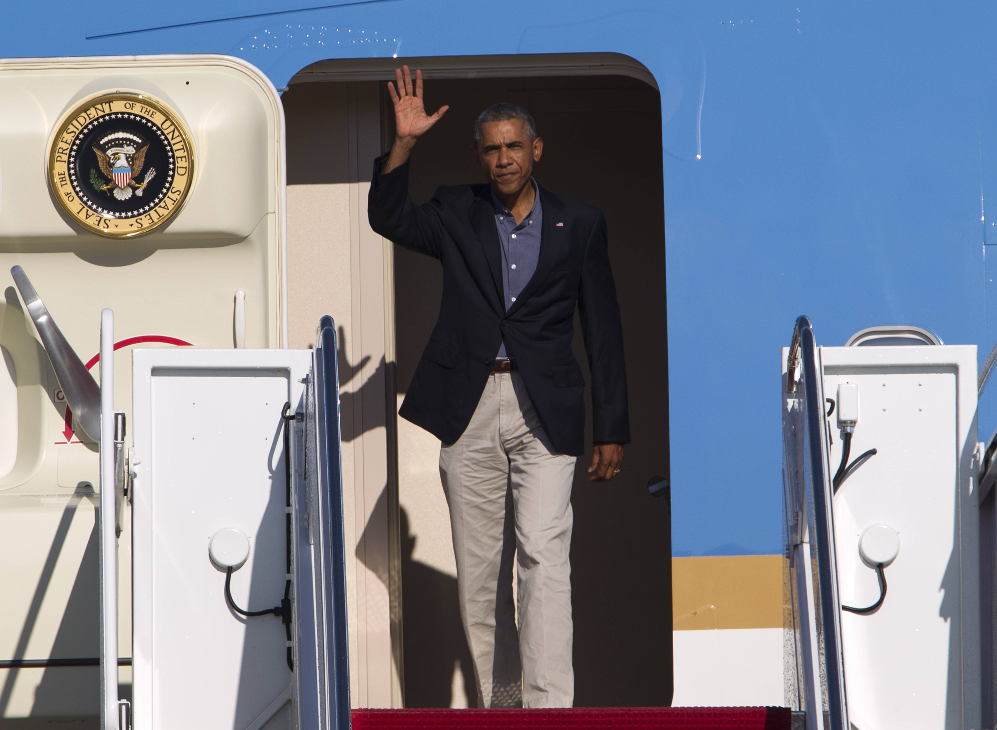 President Barack Obama departs Washington on Tuesday to visit Tallinn and Estonia, on his way to this week's North Atlantic Treaty Organization summit in the United Kingdom.