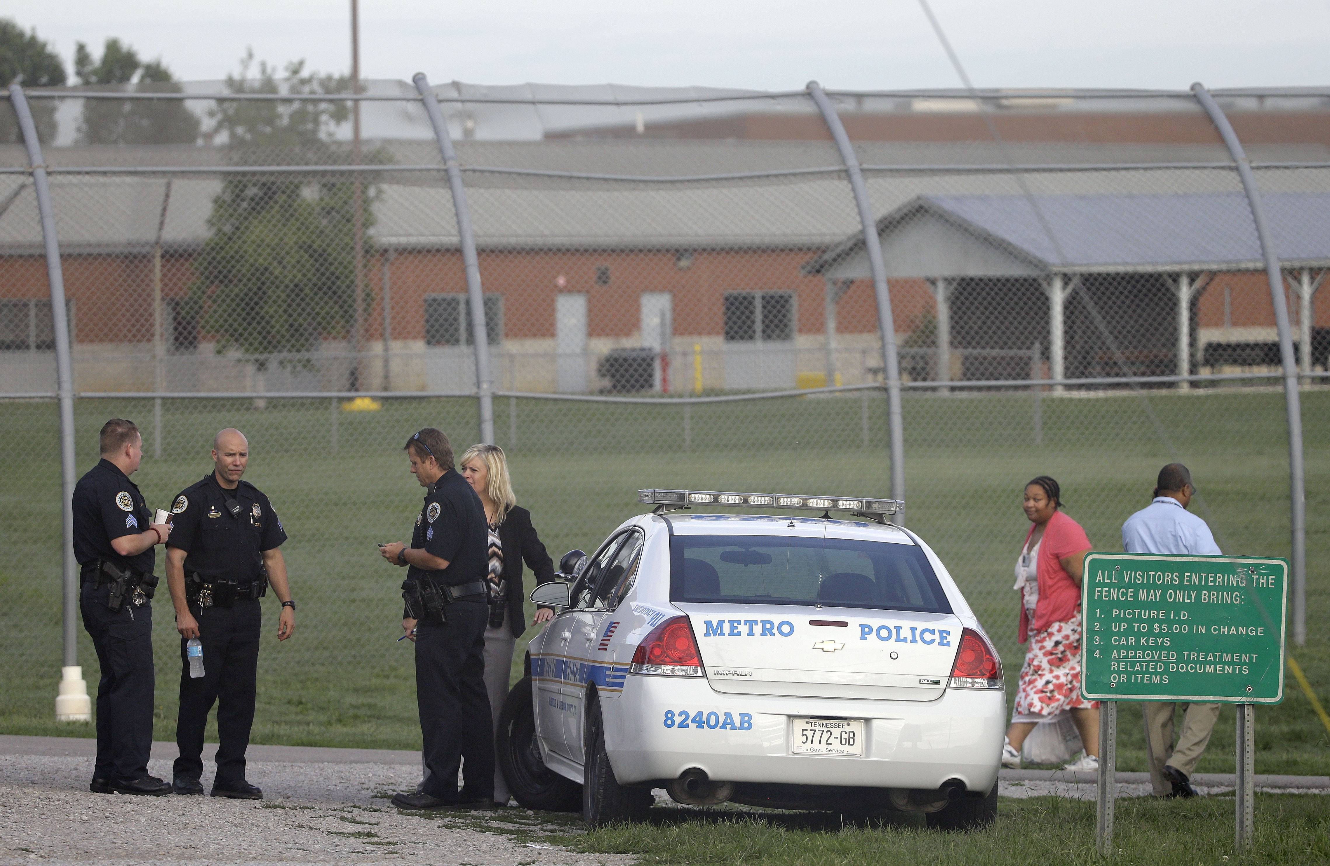 Thirty-two teens escaped from a Nashville youth detention center by crawling through a weak spot in a fence late Monday, and more than half of them were still on the run Tuesday, a spokesman said.