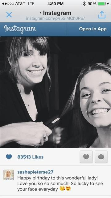 """Pretty Little Liars"" star Sasha Pieterse posted an Instagram photo of hairstylist Kim Ferry, a Gurnee native, styling her hair."