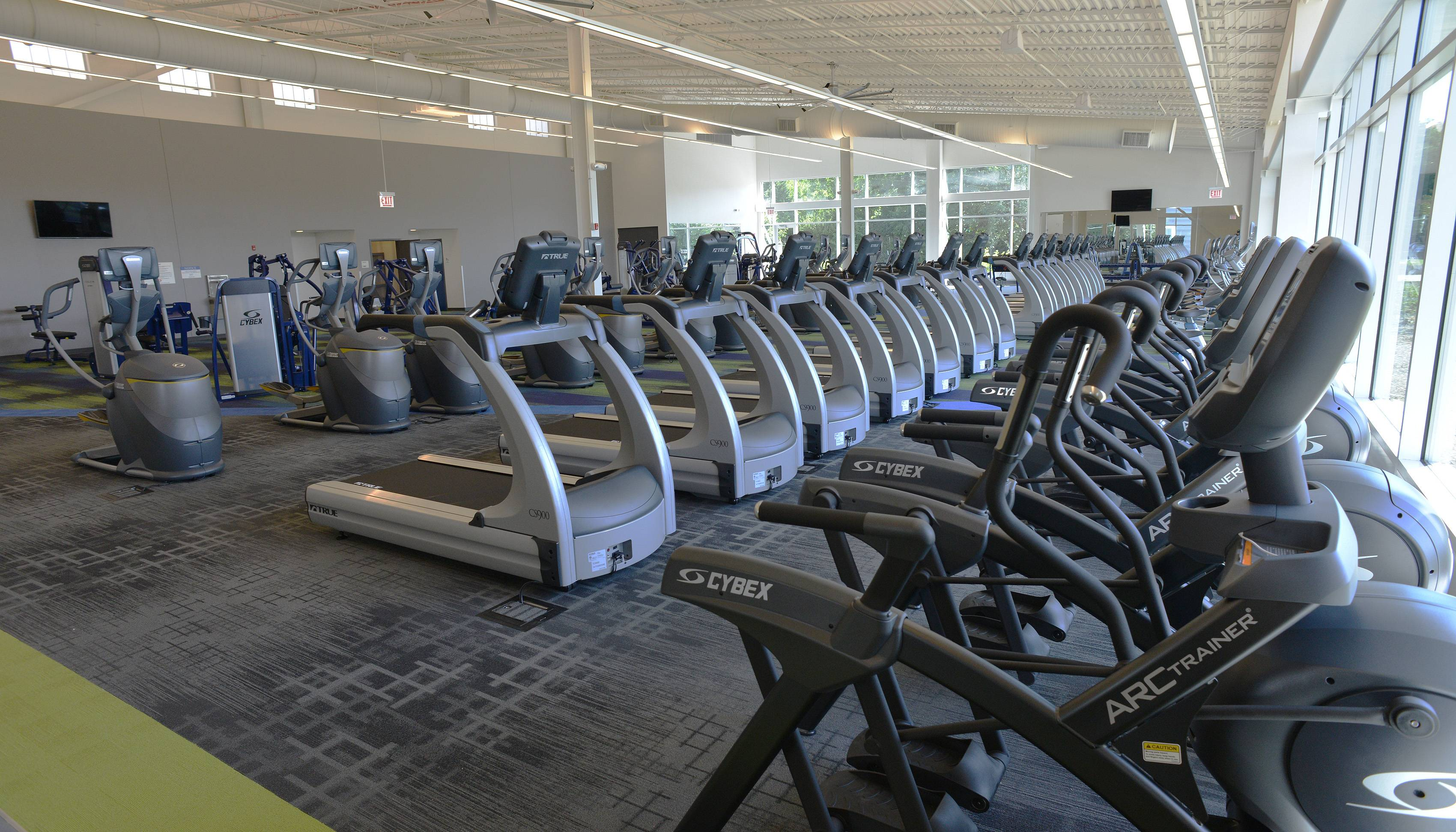 One of the highlights of West Chicago Park District's new $15.5 million indoor recreation center is the 8,000-square-foot fitness center that features treadmills and elliptical trainers, many with video screens.