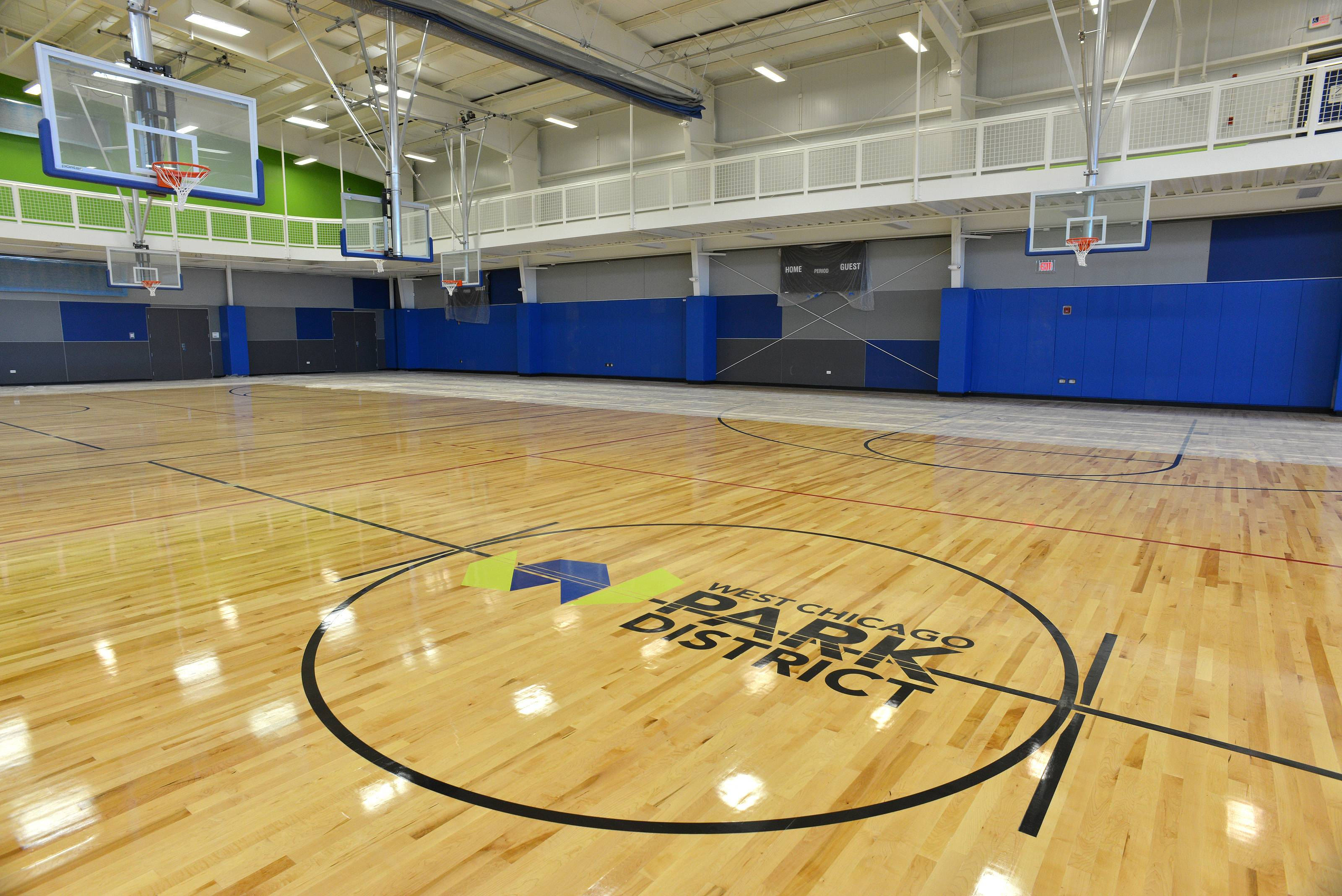 The ARC Center's three-court main gym includes wood floors.