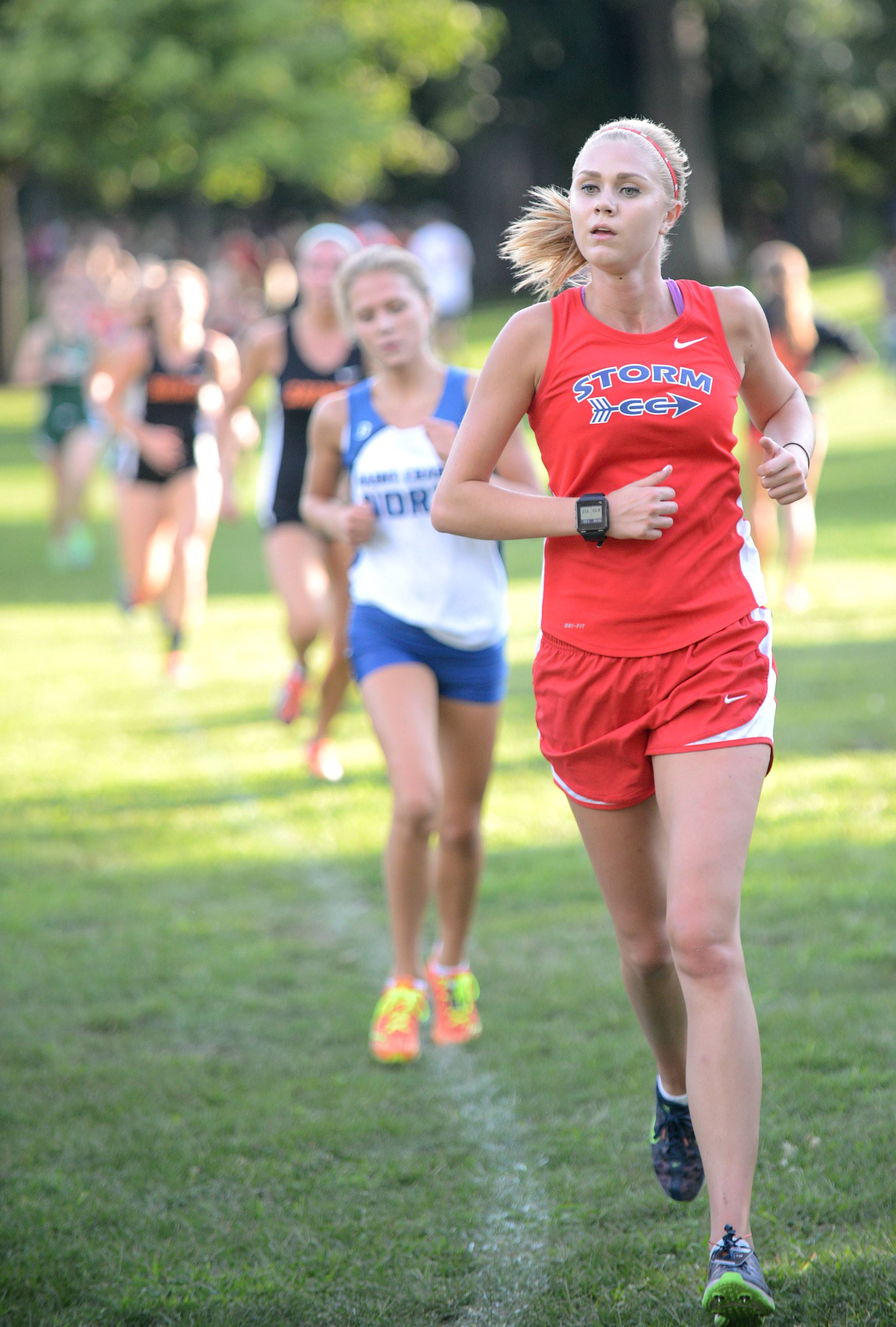 South Elgin's Sam Czuprynski would cross first for her varsity team at the Elgin Invite cross country meet at Lords Park in Elgin on Tuesday.