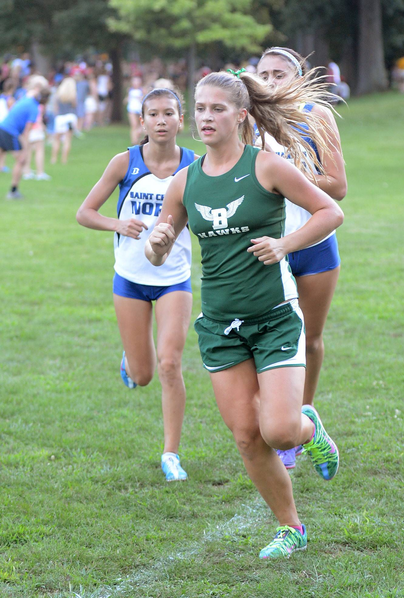 Bartlett's Jess Wittmayer would cross the finish line first for her varsity team at the Elgin Invite cross country meet at Lords Park in Elgin on Tuesday.