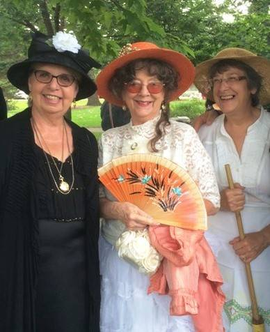 Marlene Palmer, Eve Kist and Eileen Lucietto step out of the past to be docents on the historic Bartlett Trolley Tour Saturday and Sunday at Bartlett Heritage Days.