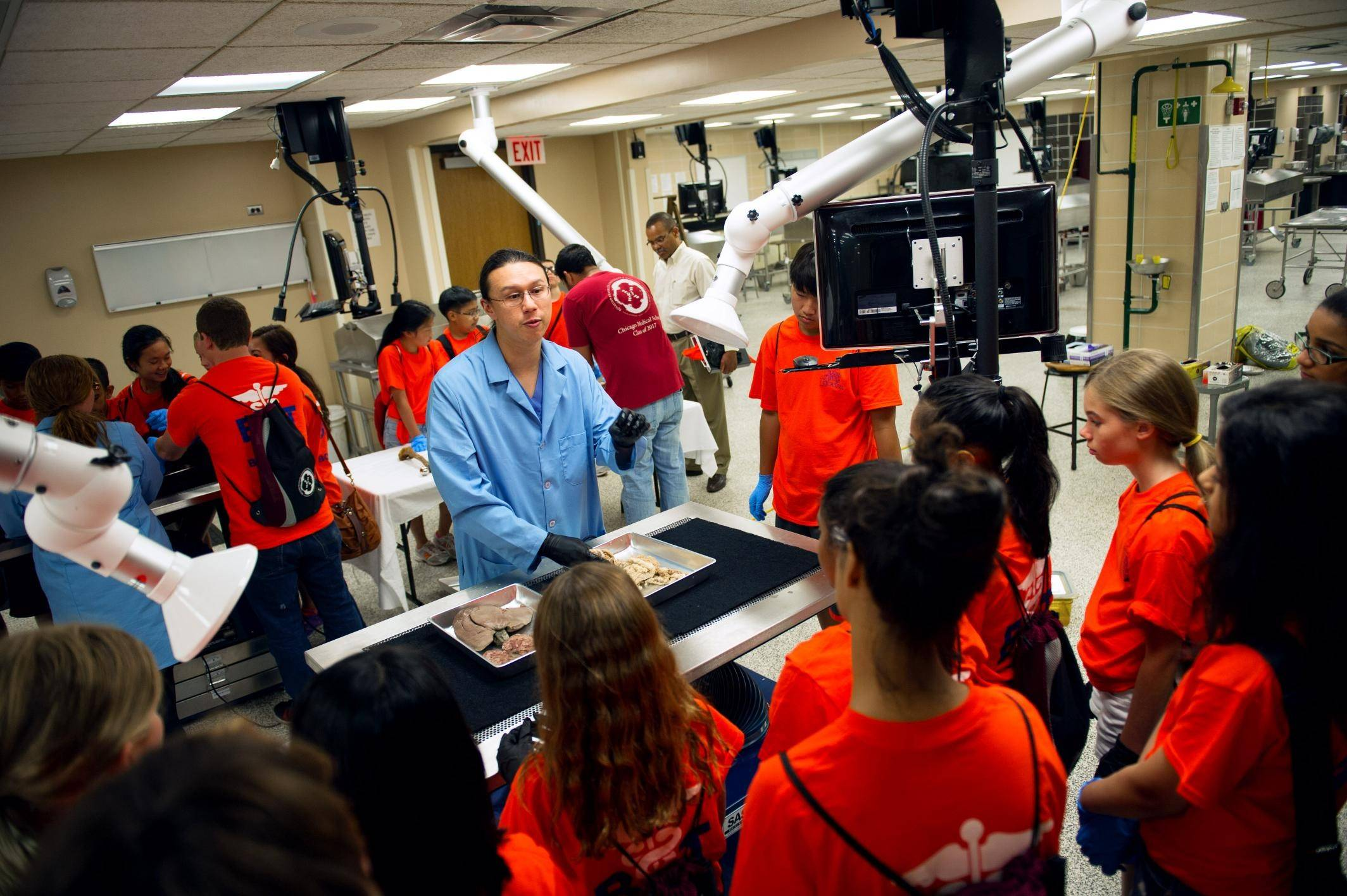 The Body Trek camp lets students explore several medical and health care topics and engage in hands-on experiences through field trips to hospitals and museums.