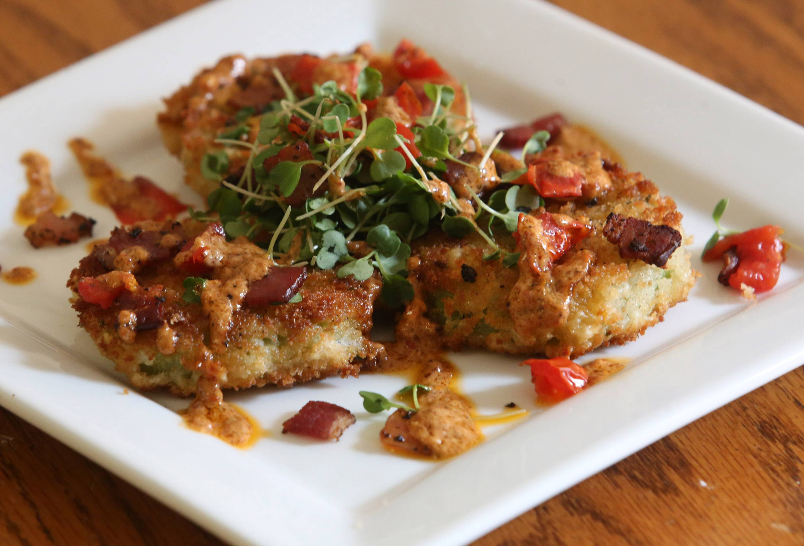 Fried Green Tomatoes with Tomato Bacon Aioli