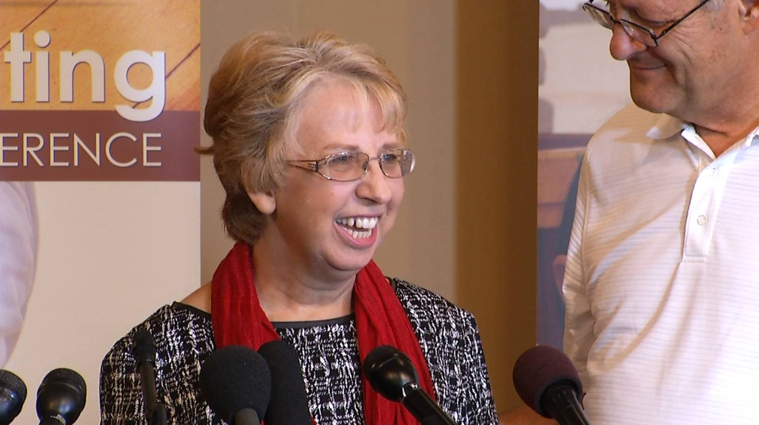Aid worker Nancy Writebol discusses her recovery from the Ebola virus in this image taken from a video taken Wednesday in Charlotte, N.C. Writebol was infected with the virus while in Libera.