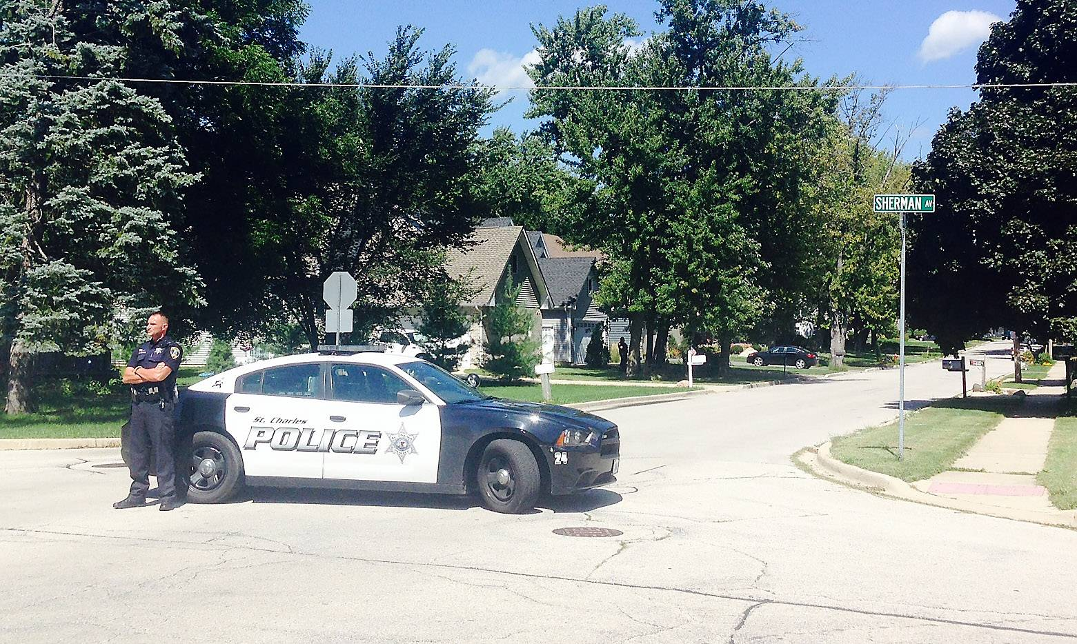 A Geneva man surrendered to police who responded to the 200 block of Syril Drive Wednesday after a report the man appeared intoxicated and was armed.