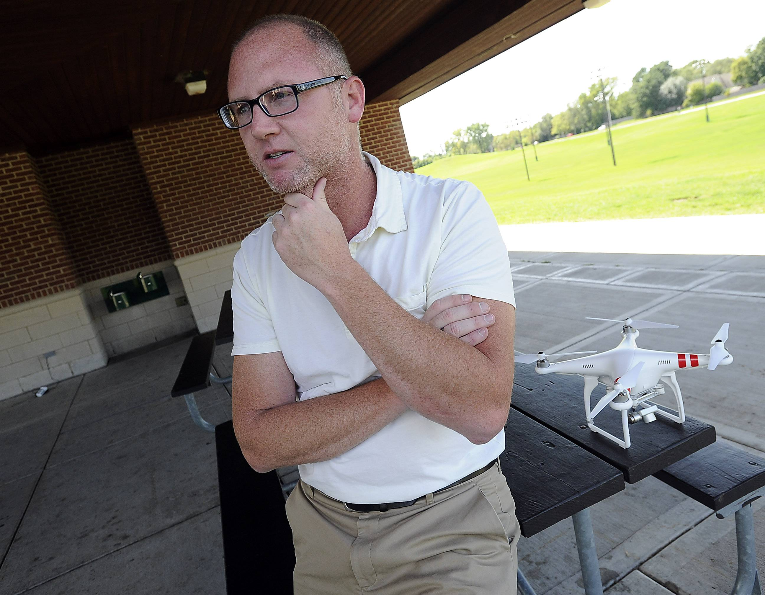 Arlington Heights resident Peter Cahill, CEO and founder of LifeLine Response, discusses the company's smartphone app that can summon aerial drones to the scene of an attack.
