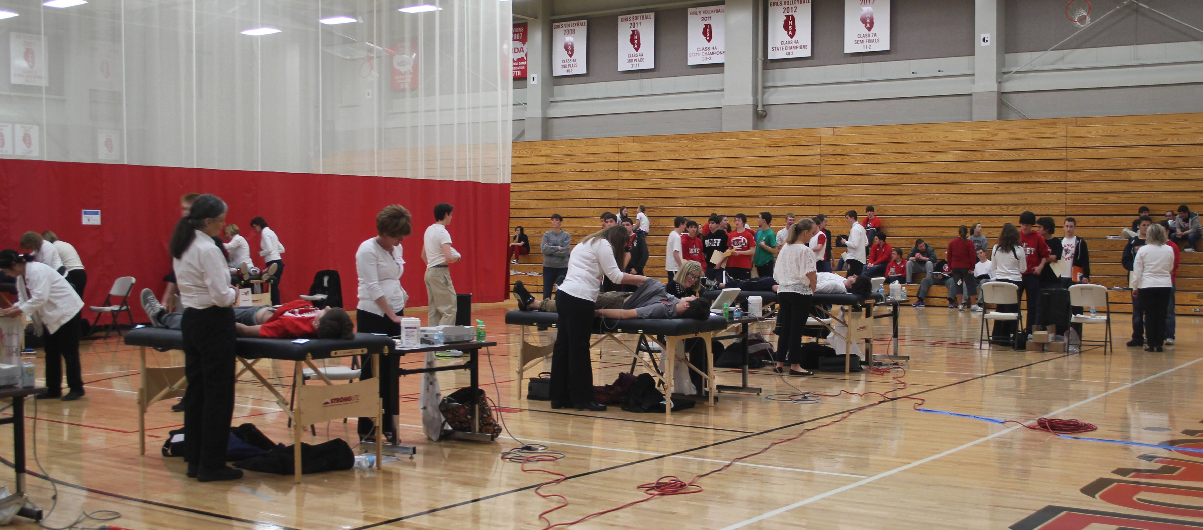 Students at Batavia High School were screened by Young Hearts for Life in May.