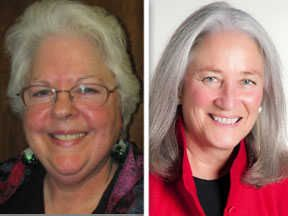 Janet Kilkelly , left, and Carla Wyckoff, right, are candidates for  Lake County Clerk  in the 2014 general election.