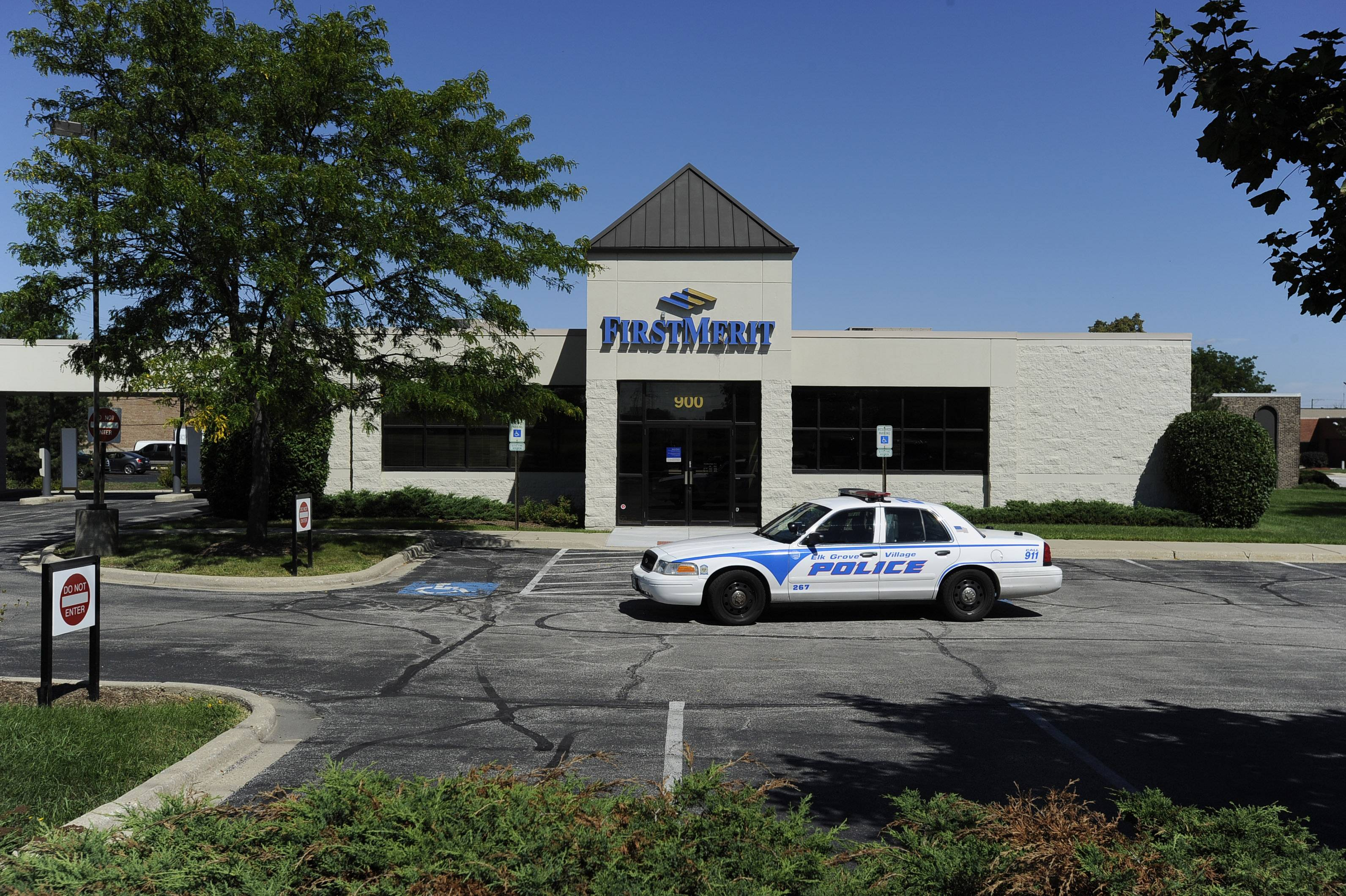 Elk Grove Village police were called to the scene of a robbery at 10:45 a.m. Wednesday at First Merit Bank in Elk Grove Village.