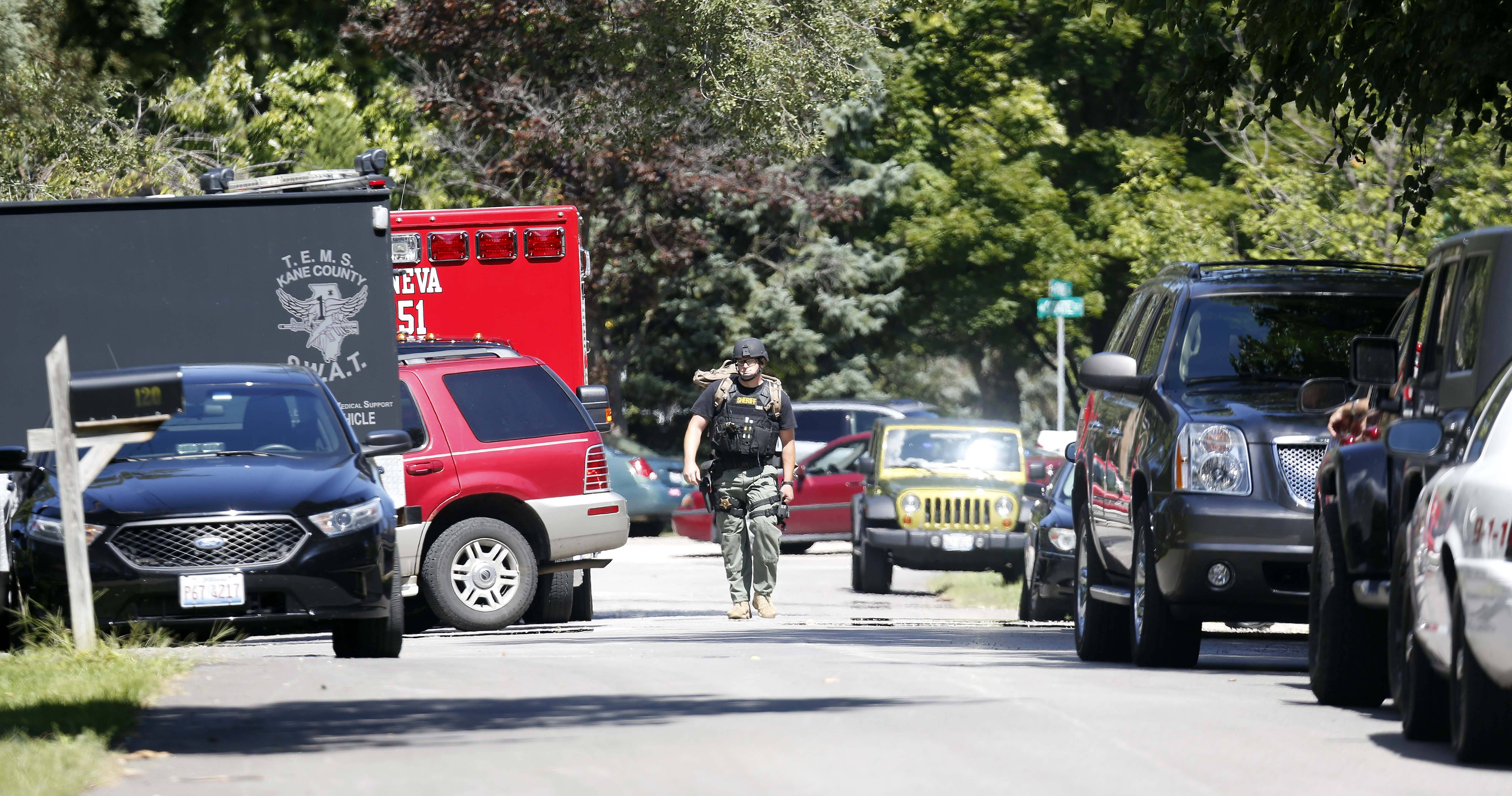A Geneva man surrendered to police about 1 p.m. Wednesday. Police responded to the 200 block of Syril Drive a couple hours earlier after a woman told police the man appeared intoxicated and had a firearm in the house.