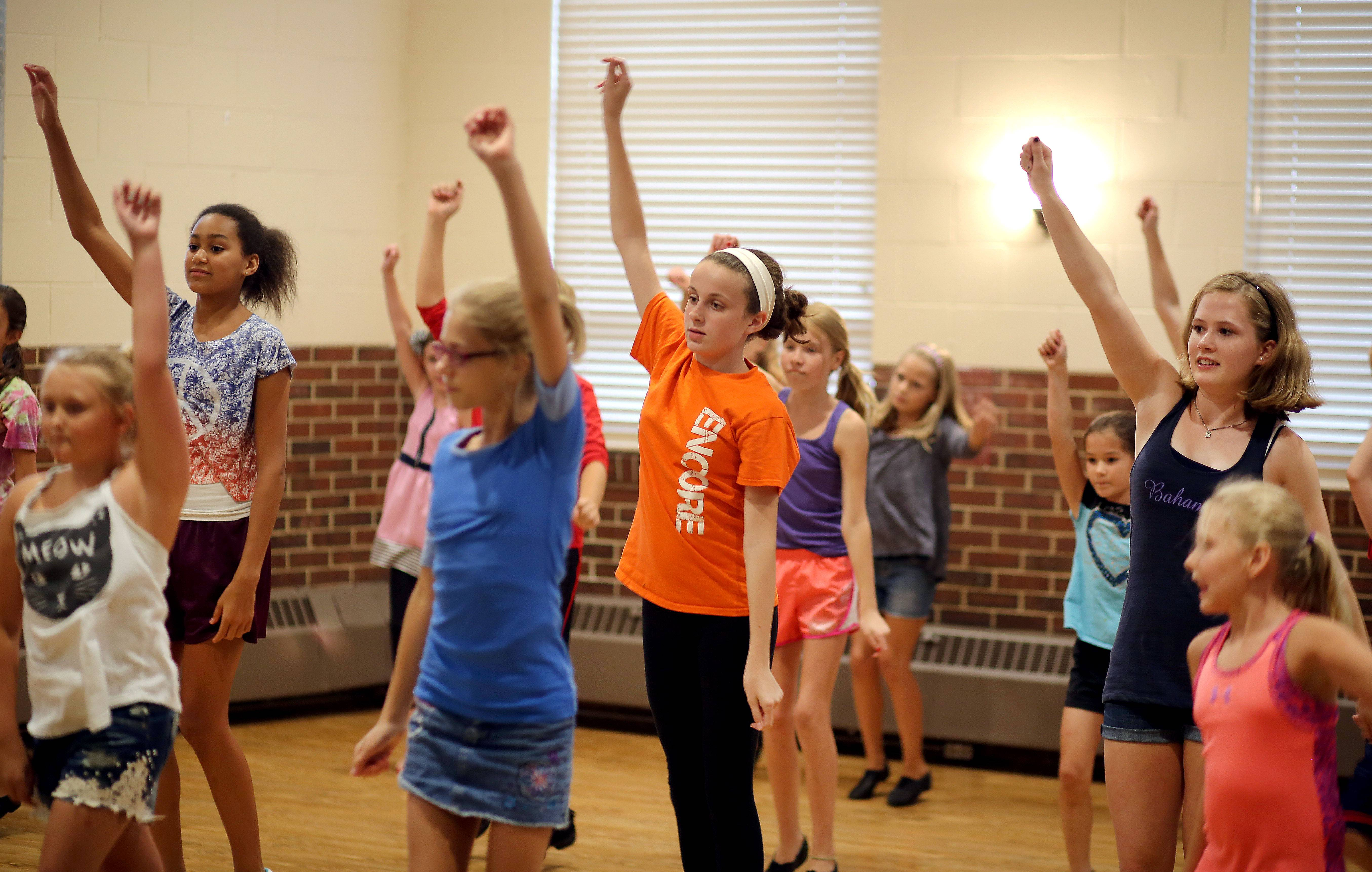Kids go through auditions at the Libertyville Civic Center. Director Bob Stilton has decided to close Encore Theatre after 17 years of operation.