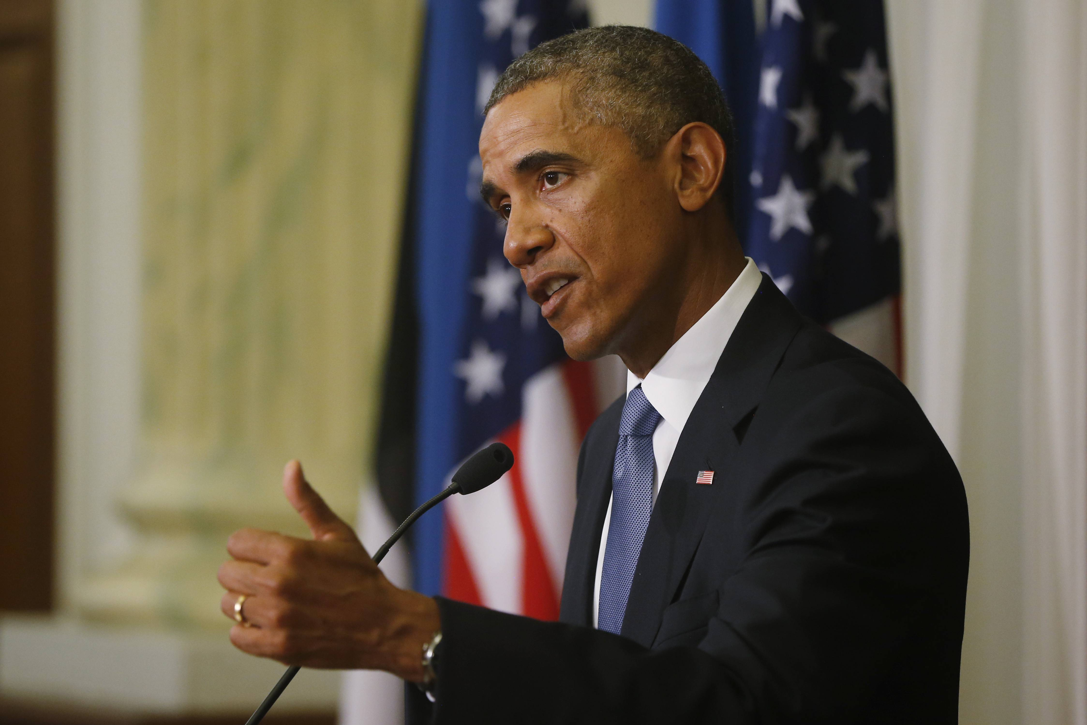 "President Barack Obama said Wednesday that the United States will not be intimidated by Islamic State militants after the beheading of a second American journalist and will build a coalition to ""degrade and destroy"" the group."