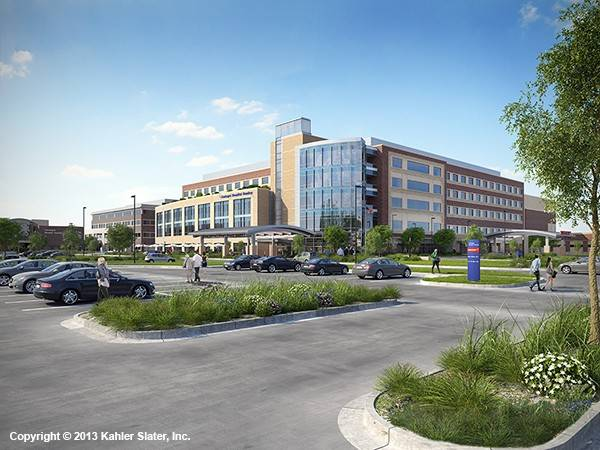 This rendering depicts the future Centegra Hospital-Huntley that would house 128 beds, a women's center and an emergency department. The $233 million, 360,000-square-foot facility is being built near Haligus and Algonquin roads.